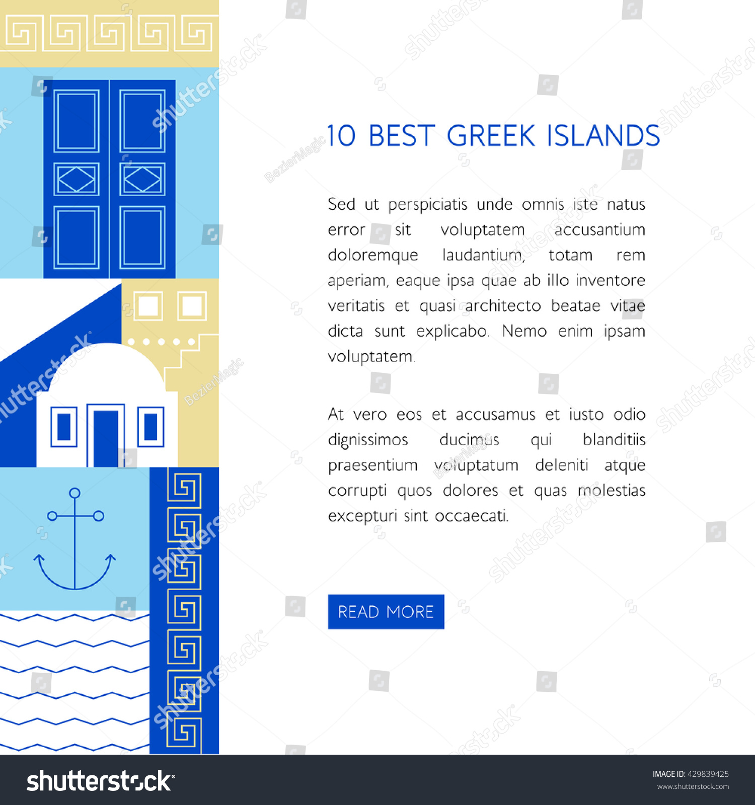 Greece travel concept different greek symbols stock vector greece travel concept with different greek symbols and colors in flat styleurism banner template buycottarizona