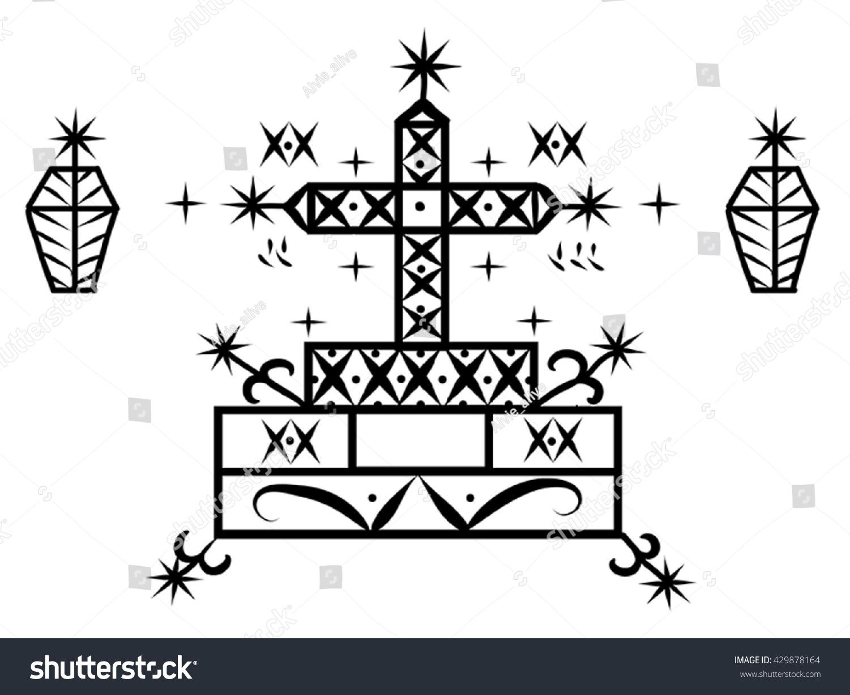 Voodoo Spirit Loa Baron Samedi Symbol Stock Vector Royalty Free