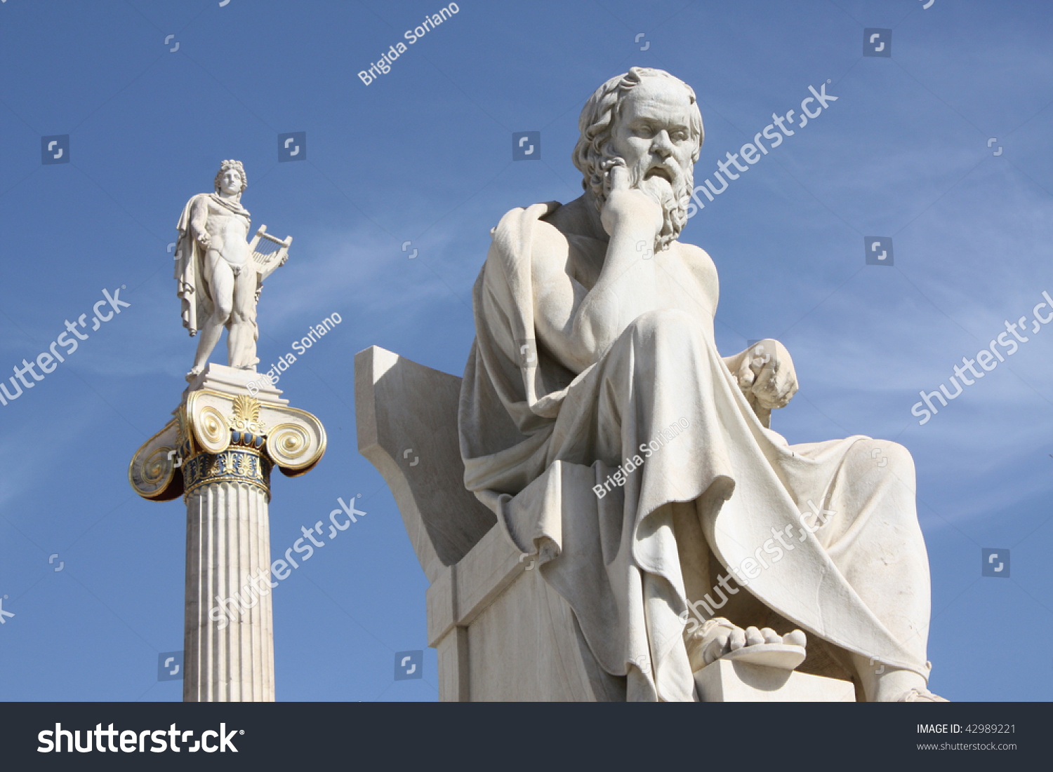 Neoclassical Statues Socrates Ancient Greek Philosopher
