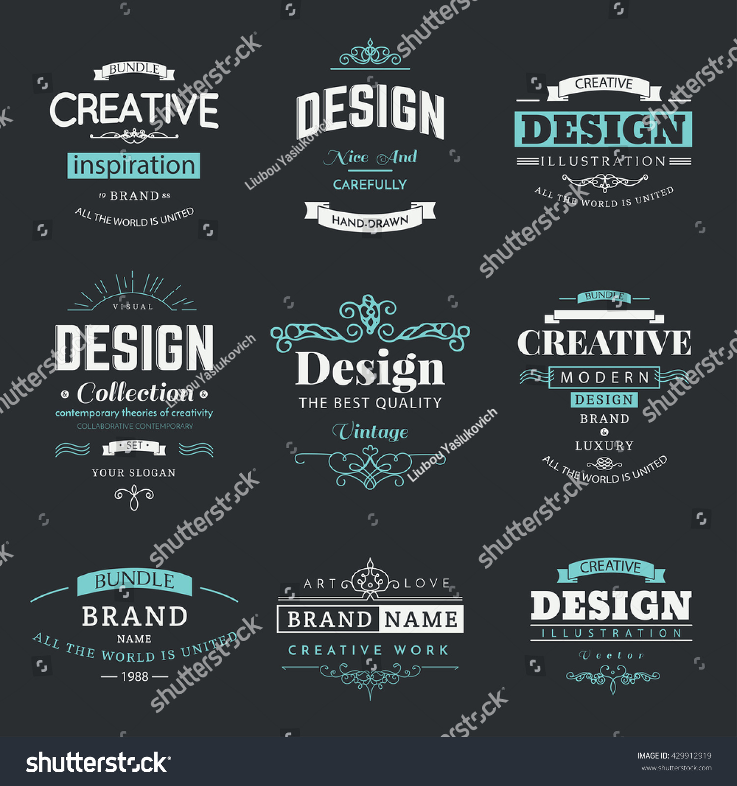 Retro creative vintage labels template logo stock vector royalty retro creative vintage labels template and logo set vector design elements business signs branding friedricerecipe Gallery