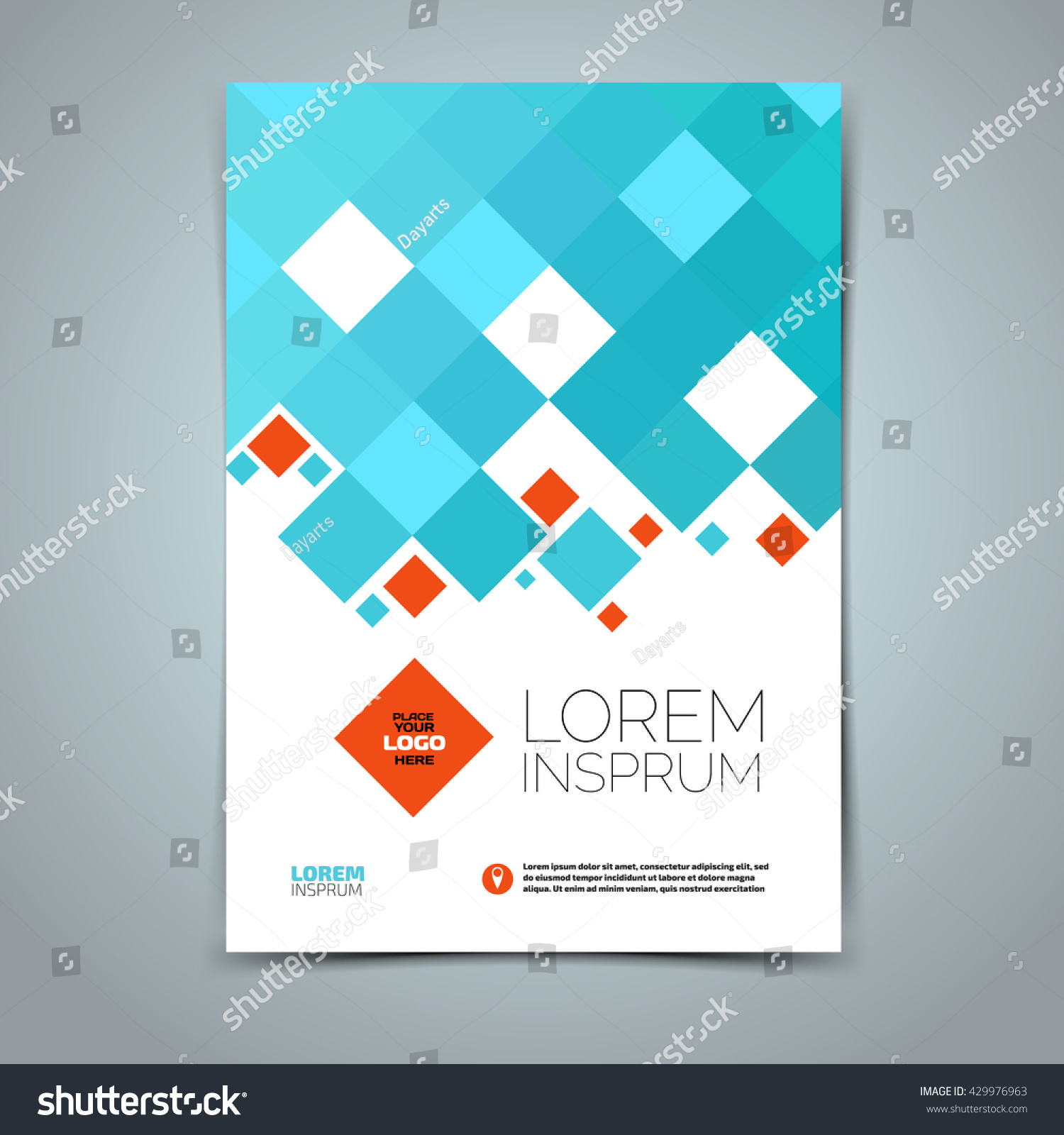 Vector Leaflet Brochure Cover Template Flat Stock Photo (Photo ...