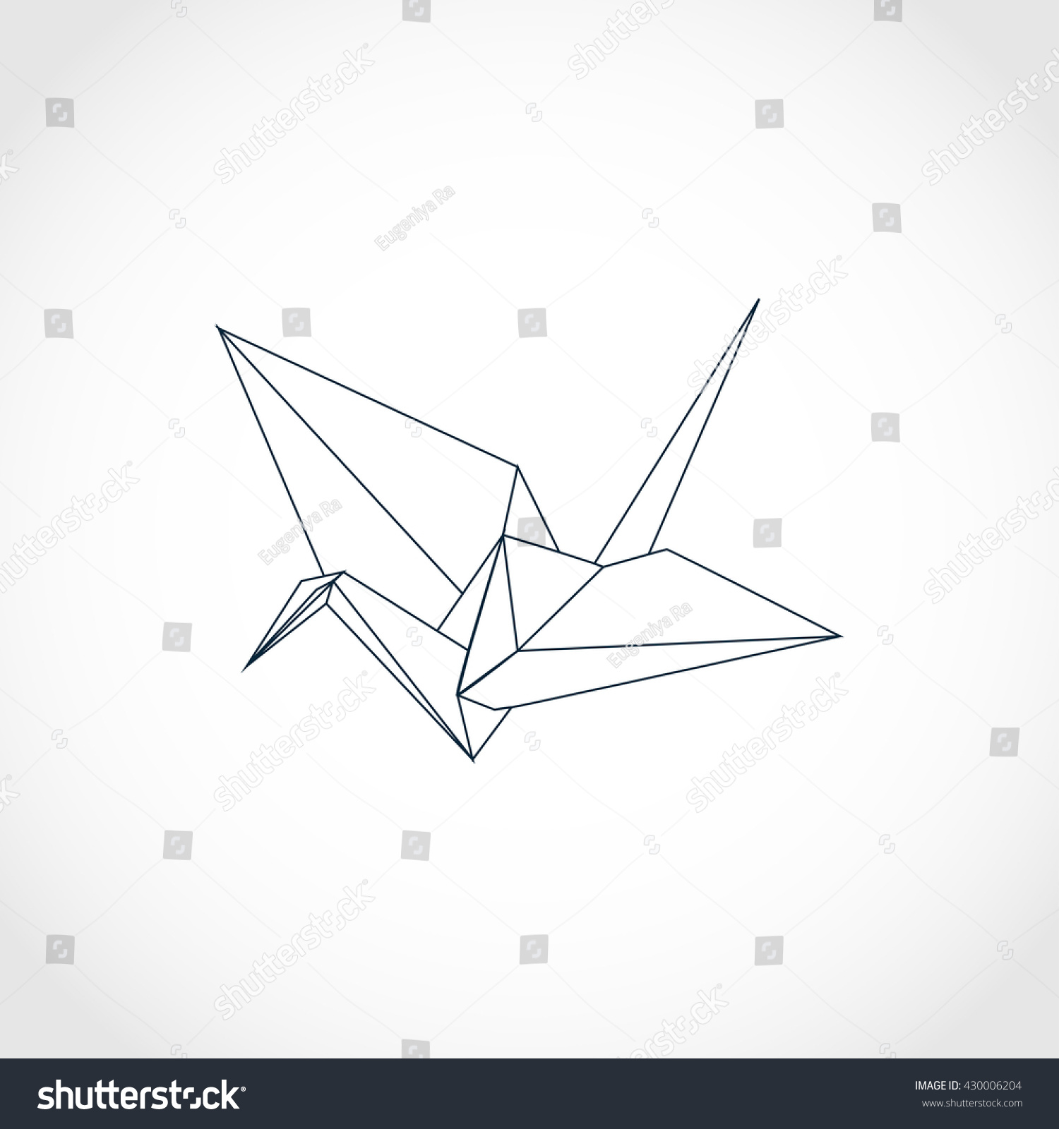 Traditional Japanese Origami Crane Can Be Stock Vector Royalty Free
