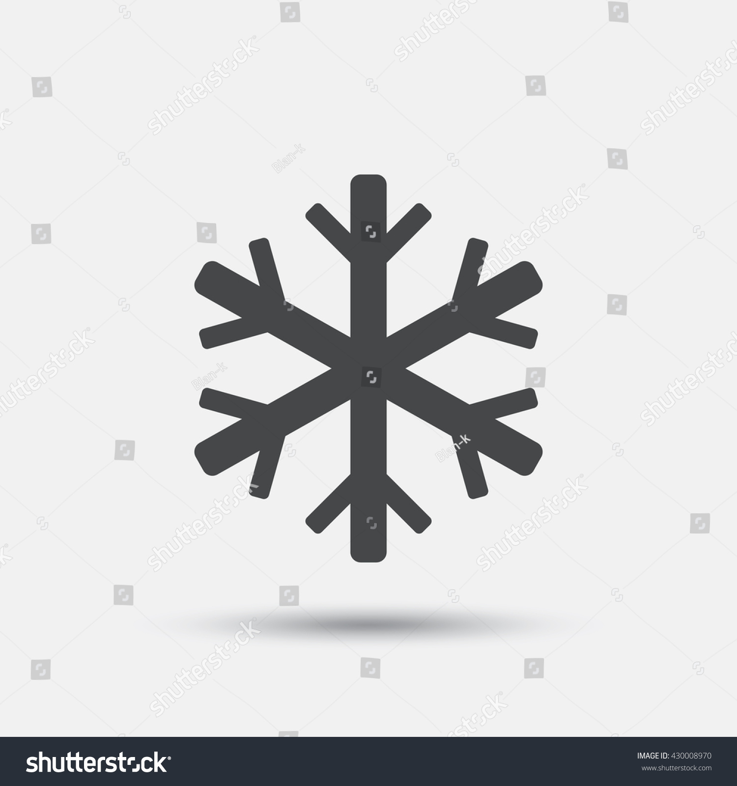 Air Conditioning Sign Icon Snowflake Symbol Stock Vector 430008970