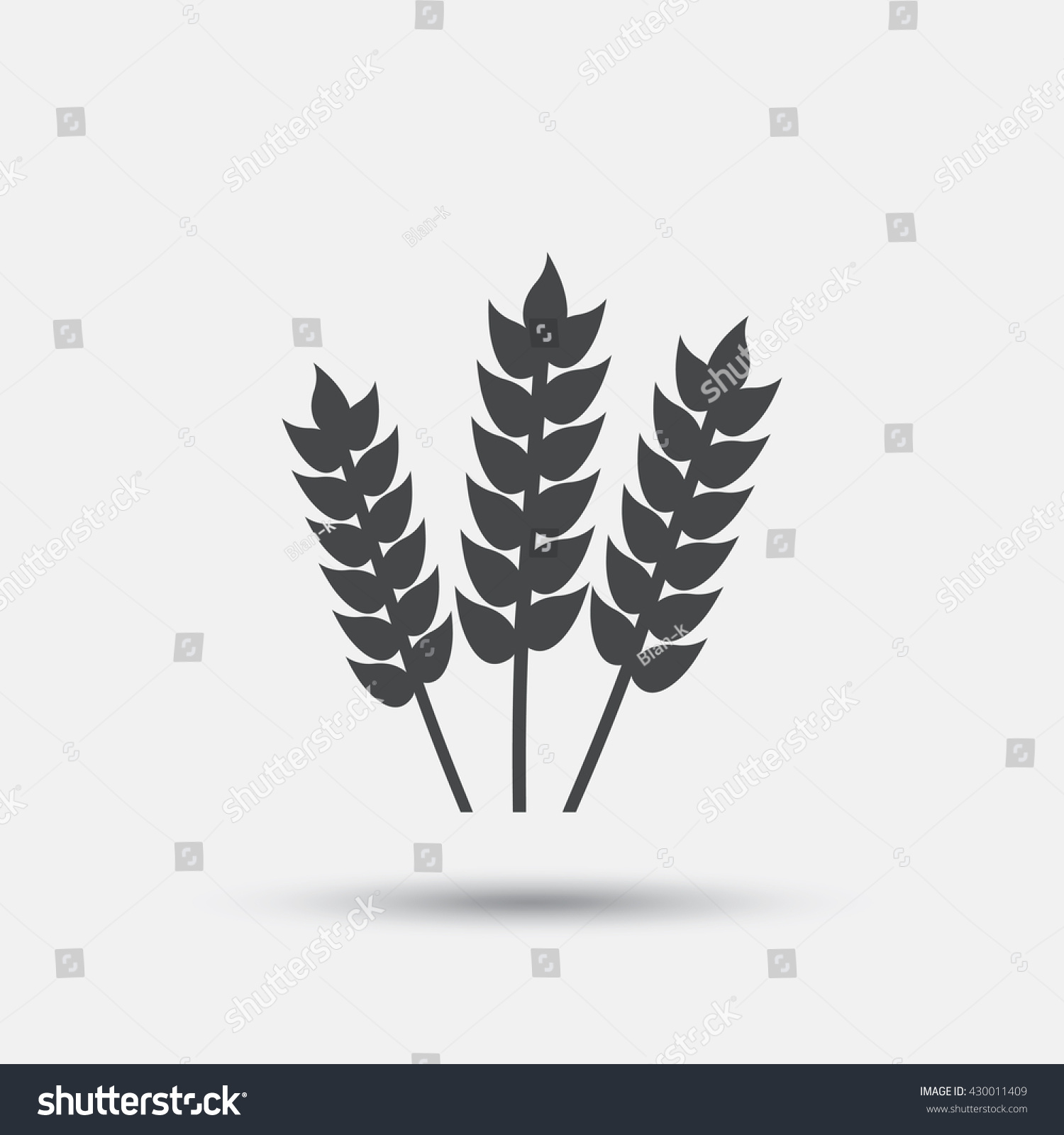 Agricultural Sign Icon Gluten Free No Stock Vector (Royalty
