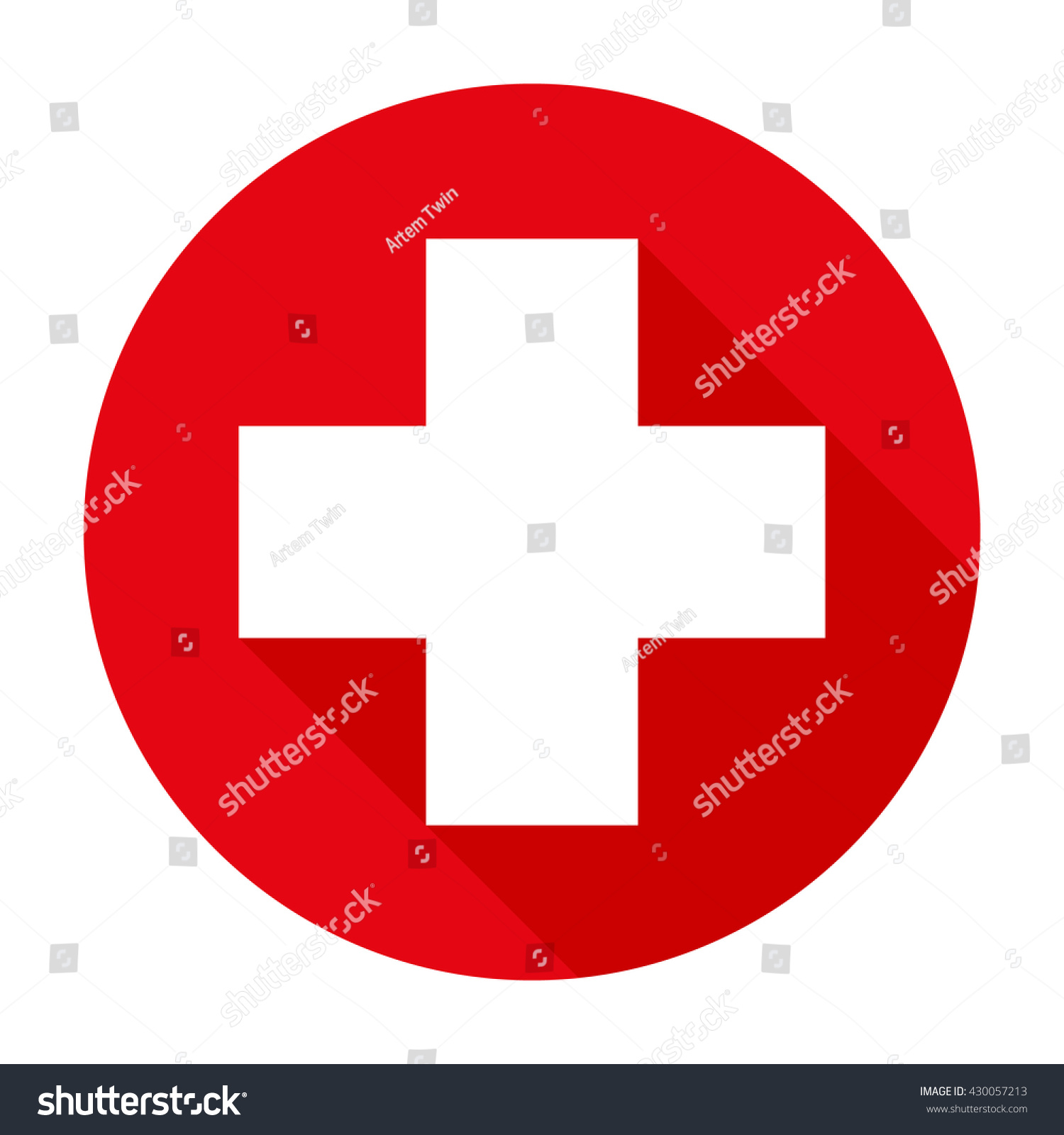 Cross Red Hospital Medical Vector Signsymbol Stock Vector ...