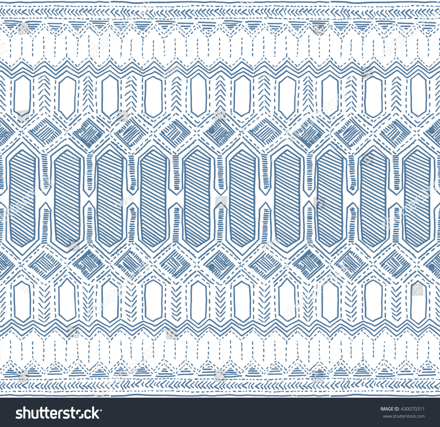 Batik Pattern, Indonesia Batik Vector. Tribal Ethnic