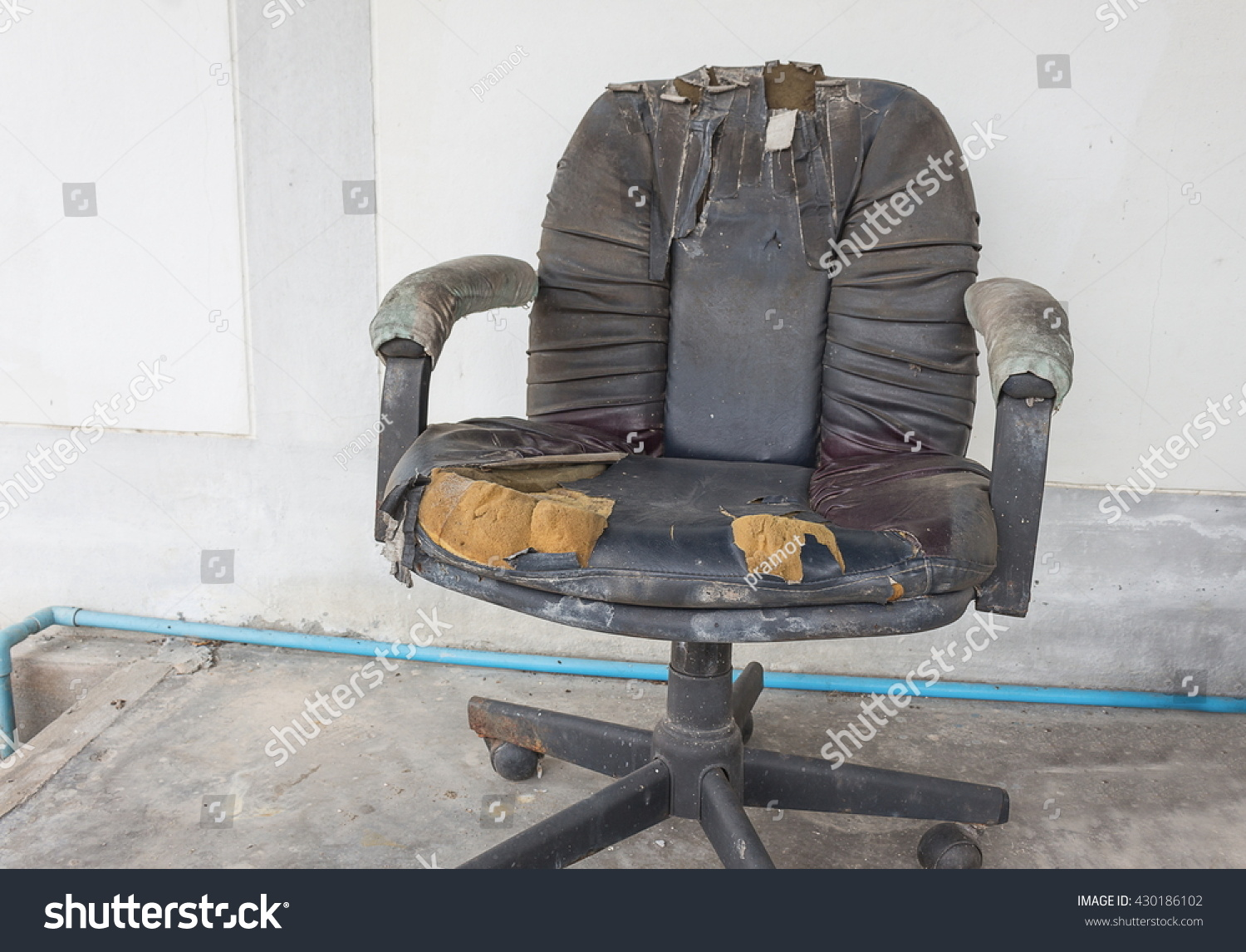 old office chair. Black Office Chair Old Damage Leather And Dirty Time To Replace R