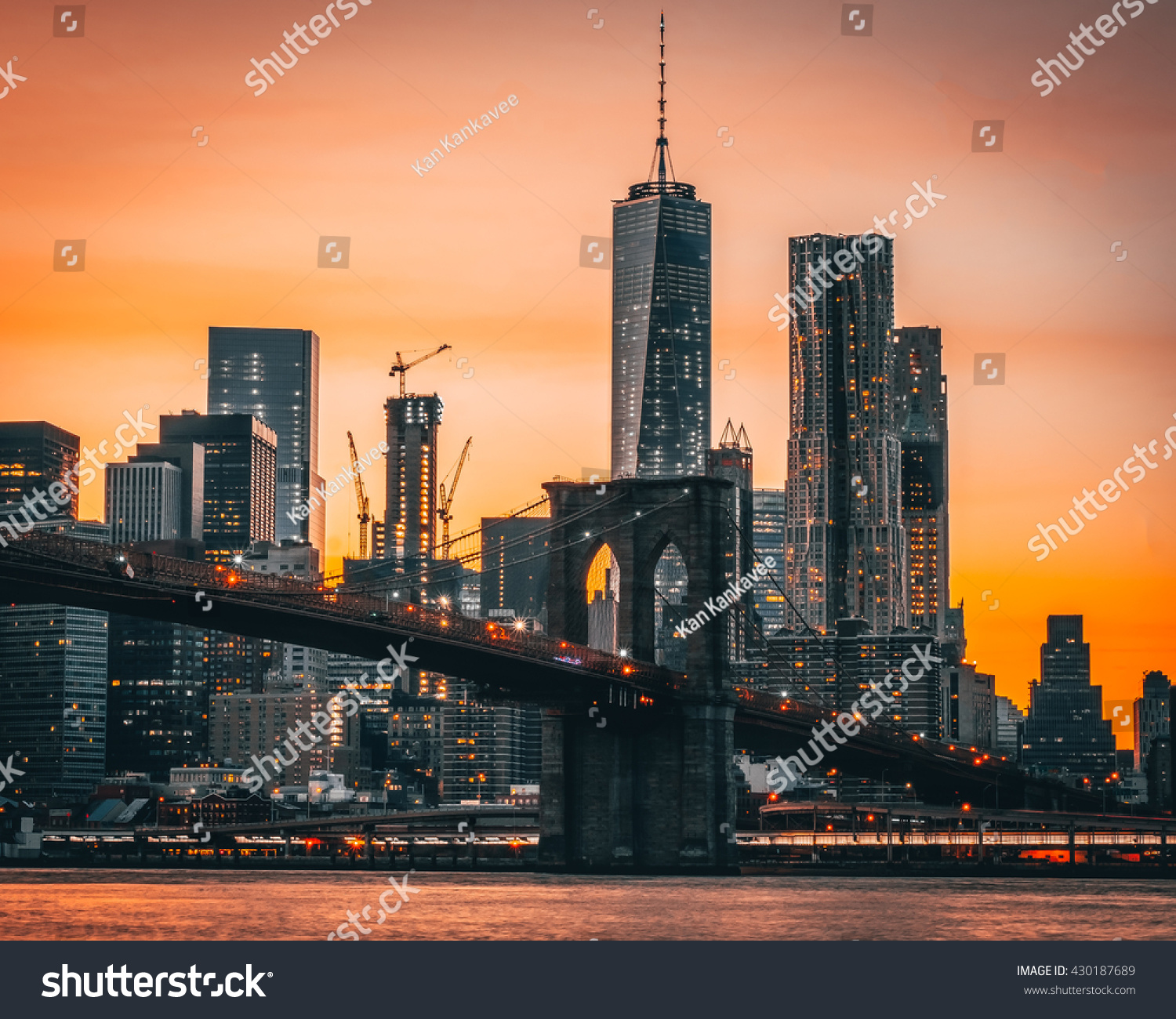New york city beautiful sunset stock photo 430187689 for New york city beautiful