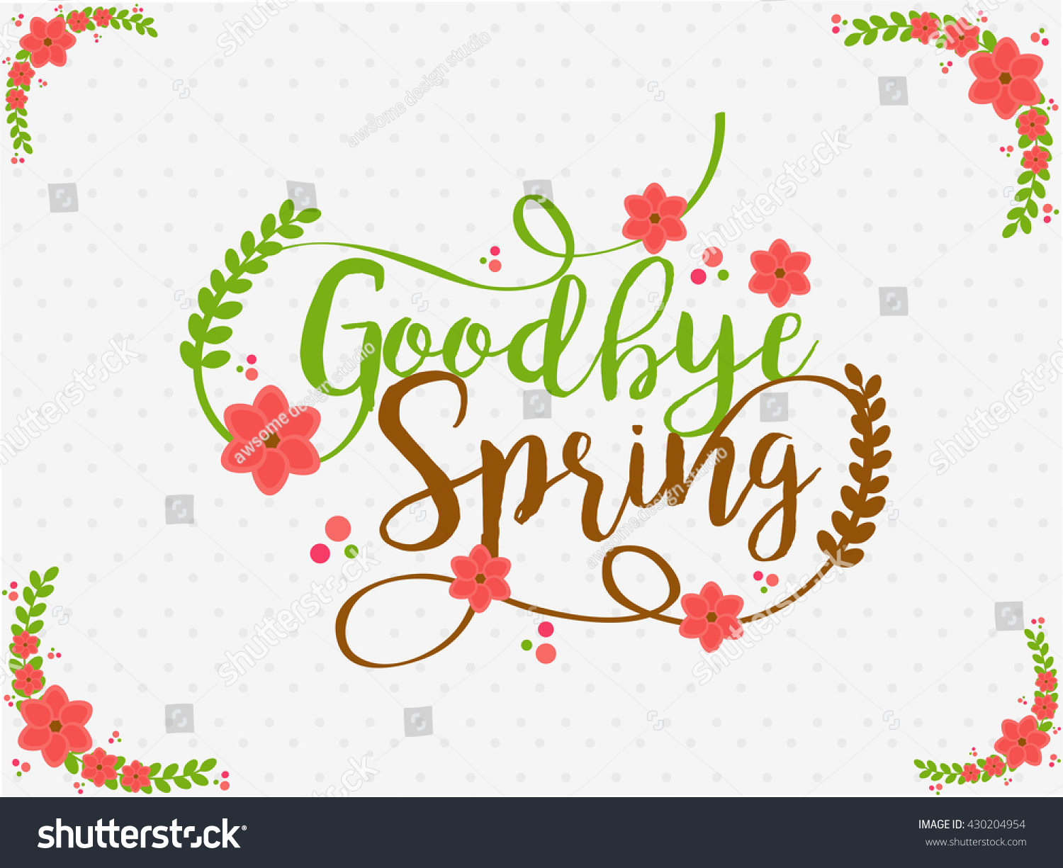 Goodbye spring banner poster stylish typography stock vector goodbye spring banner or poster with stylish typography kristyandbryce Image collections