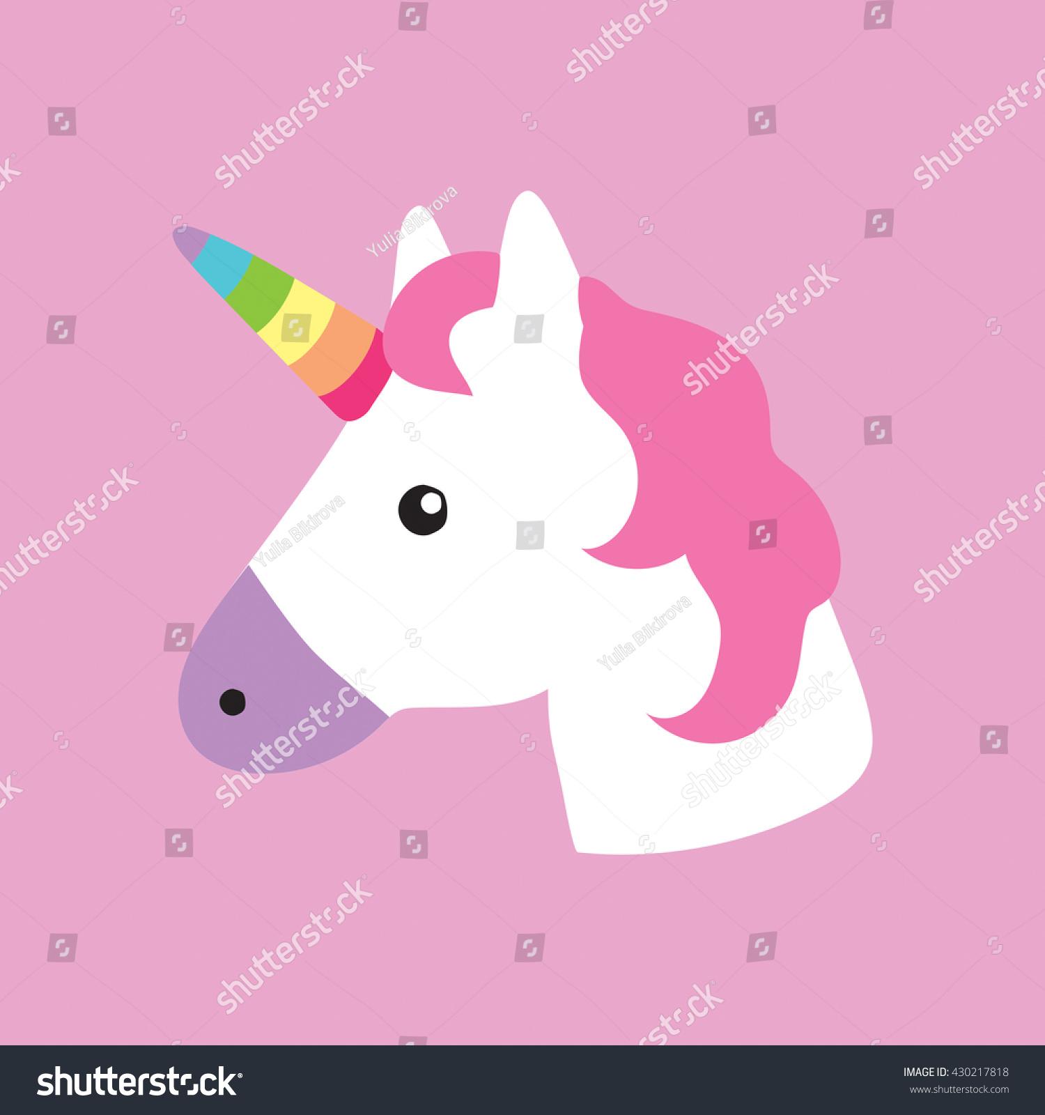 unicorn portrait decor kids room print stock vector 430217818