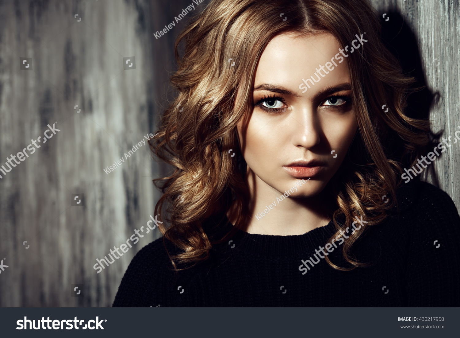 Casual Teen Girl Standing By Grunge Stock Photo Edit Now 430217950