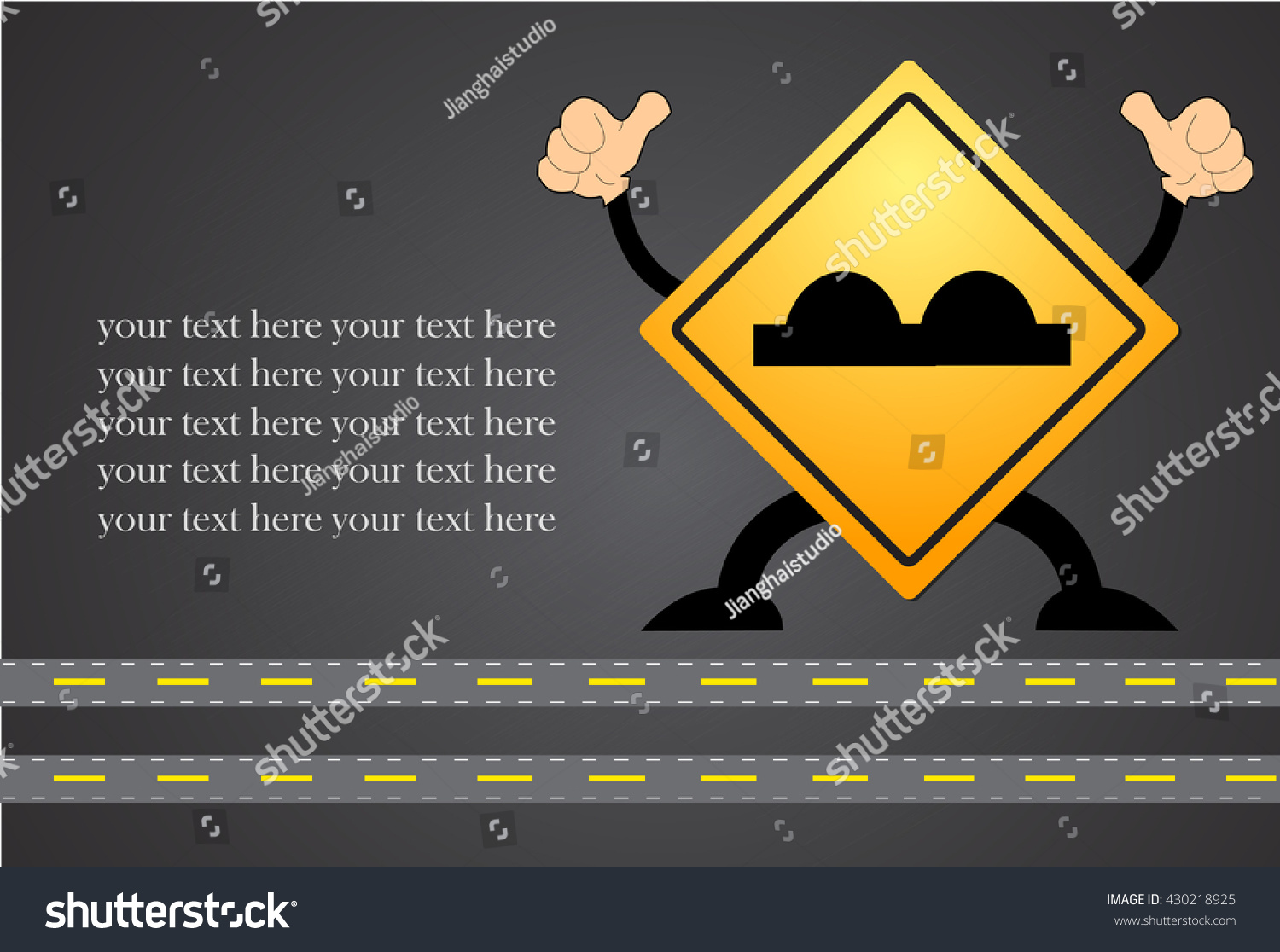 Road sign beware surface roughness stock vector 430218925 road sign beware surface roughness buycottarizona Choice Image