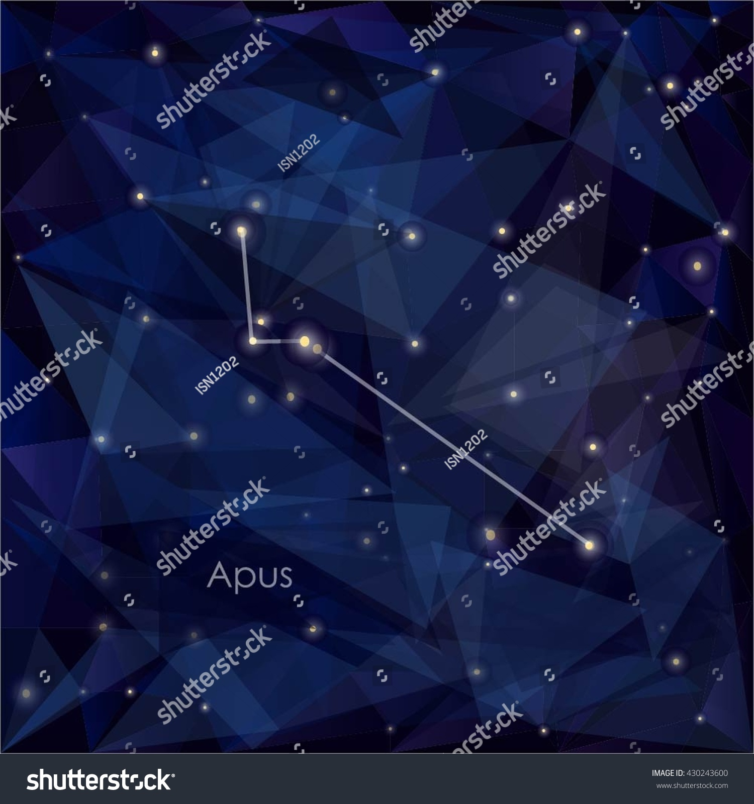 Apus Constellation In Night Sky Background S A Triangulation