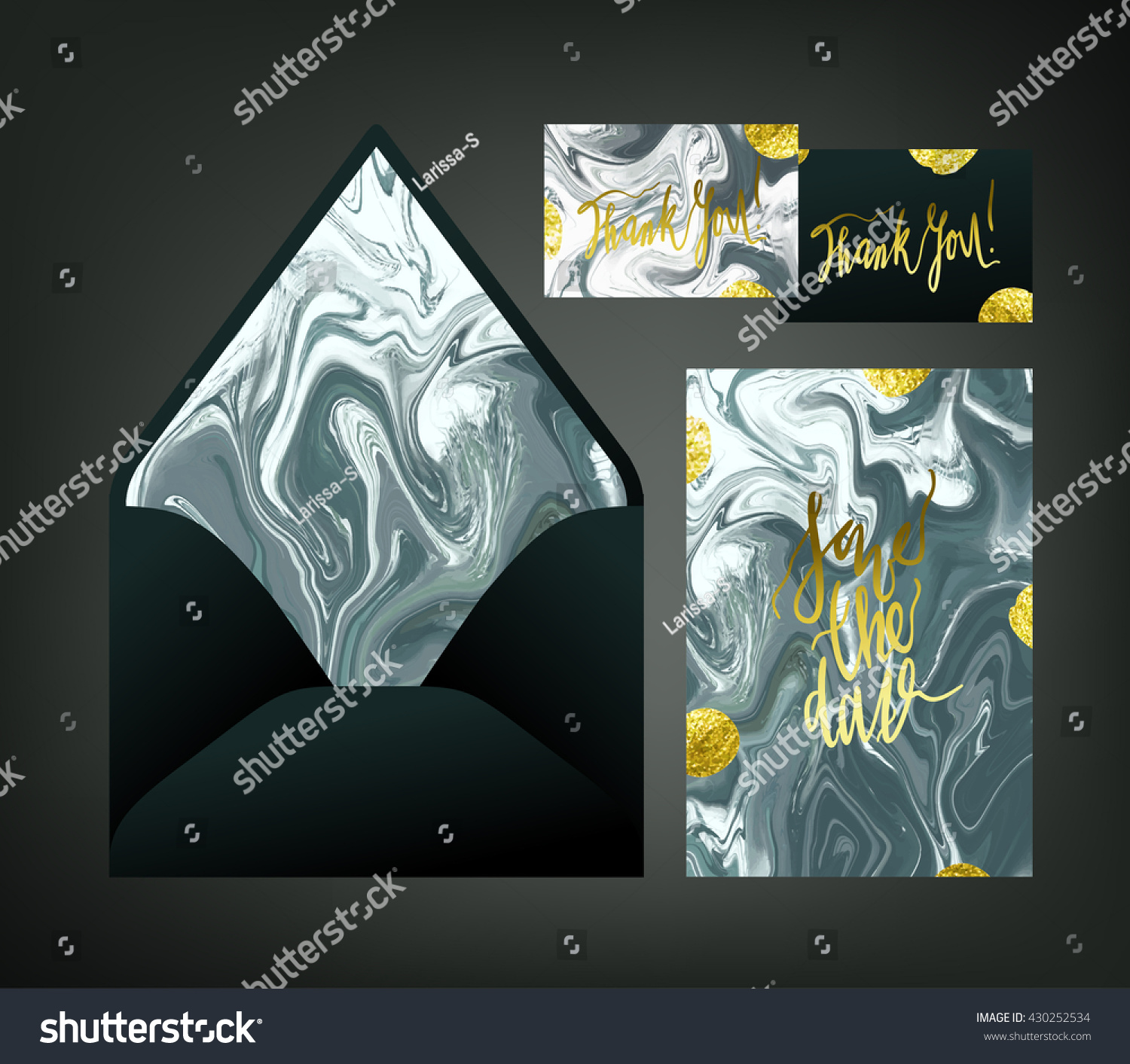 Marble textured wedding print set invitation stock vector hd marble textured wedding print set invitation cards and envelope vector templates with black and white stopboris Gallery