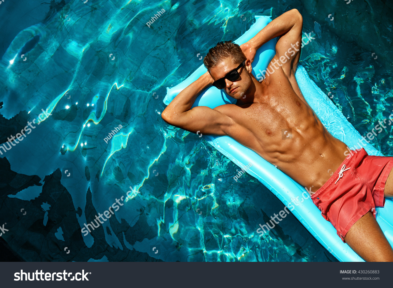 bcc18ce9ba Summer Man Body Sun Skin Care.… Stock Photo 430260883 - Avopix.com