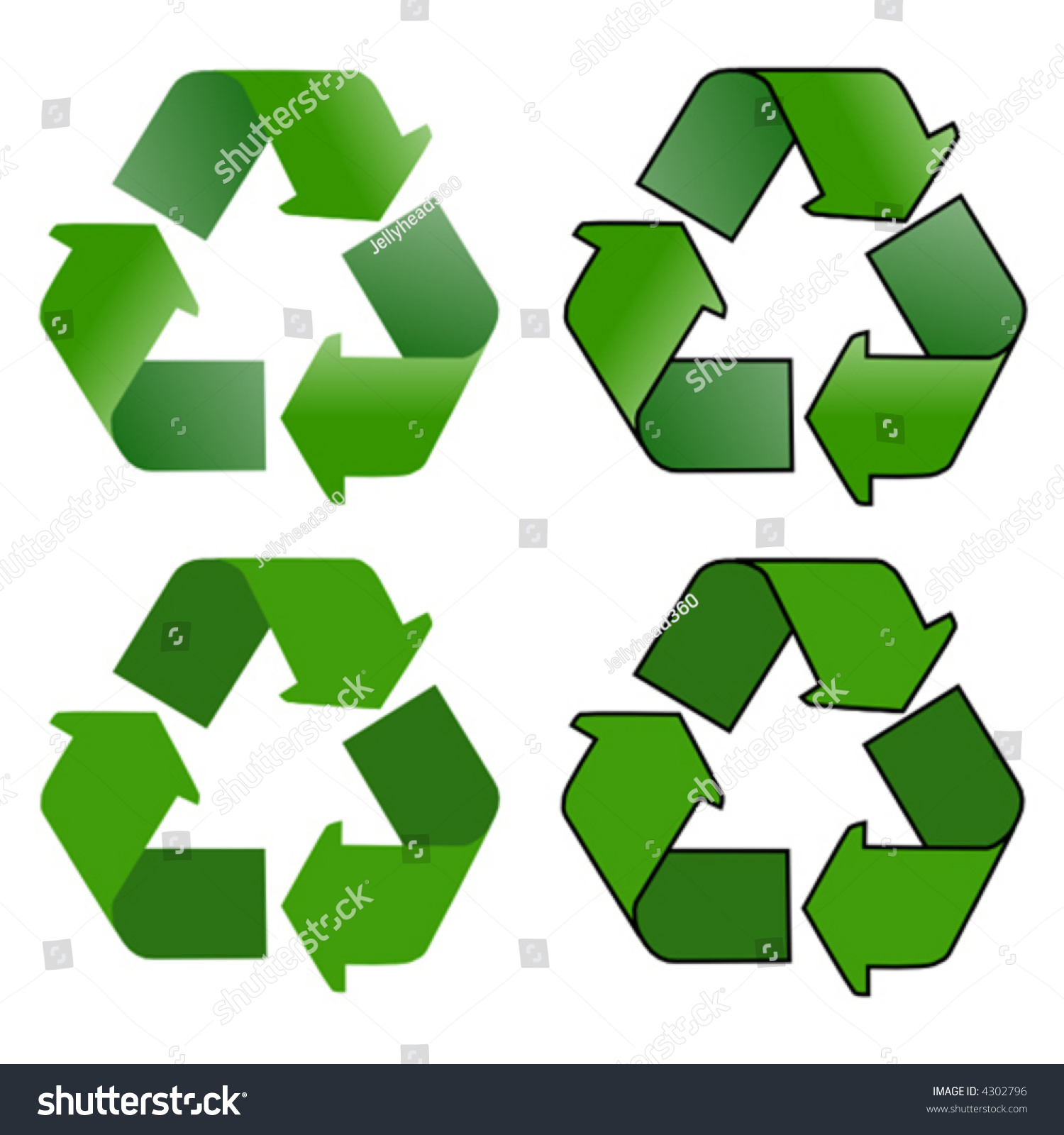 Vector drawing recycling symbol 4 slightly stock vector 4302796 a vector drawing of a recycling symbol 4 slightly different versions biocorpaavc Choice Image