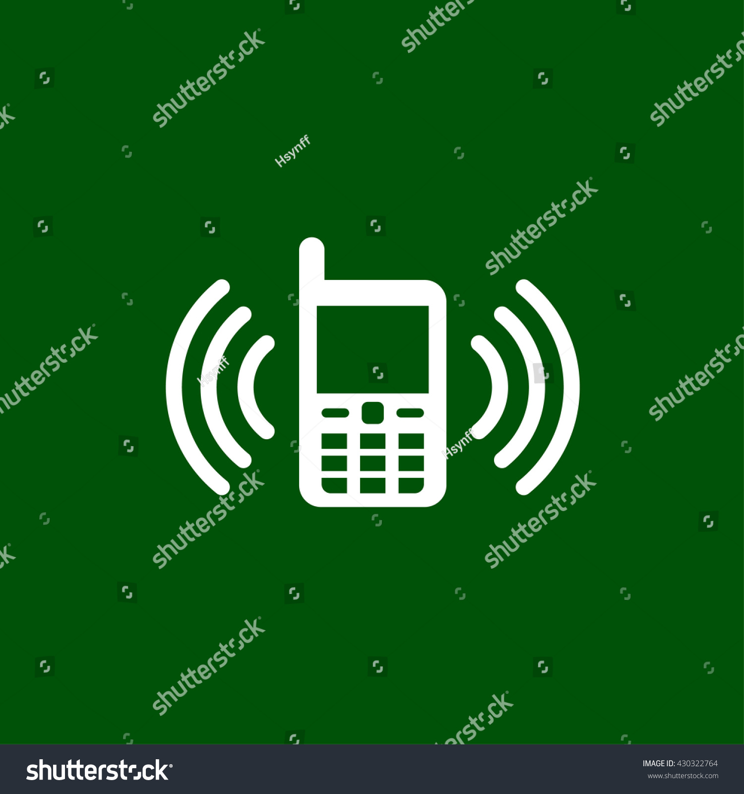 Phone Vibration Icon Phone Vibration Vector Stock Photo (Photo ...