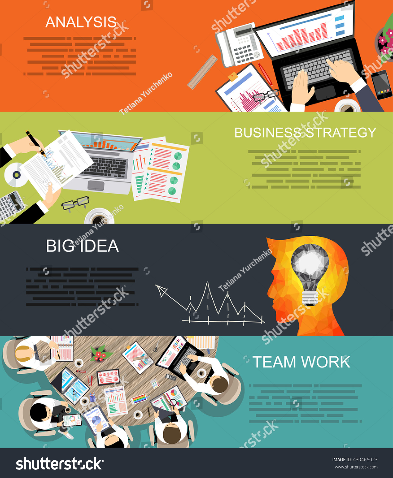Set flat design illustration concepts business stock for Design consultant company