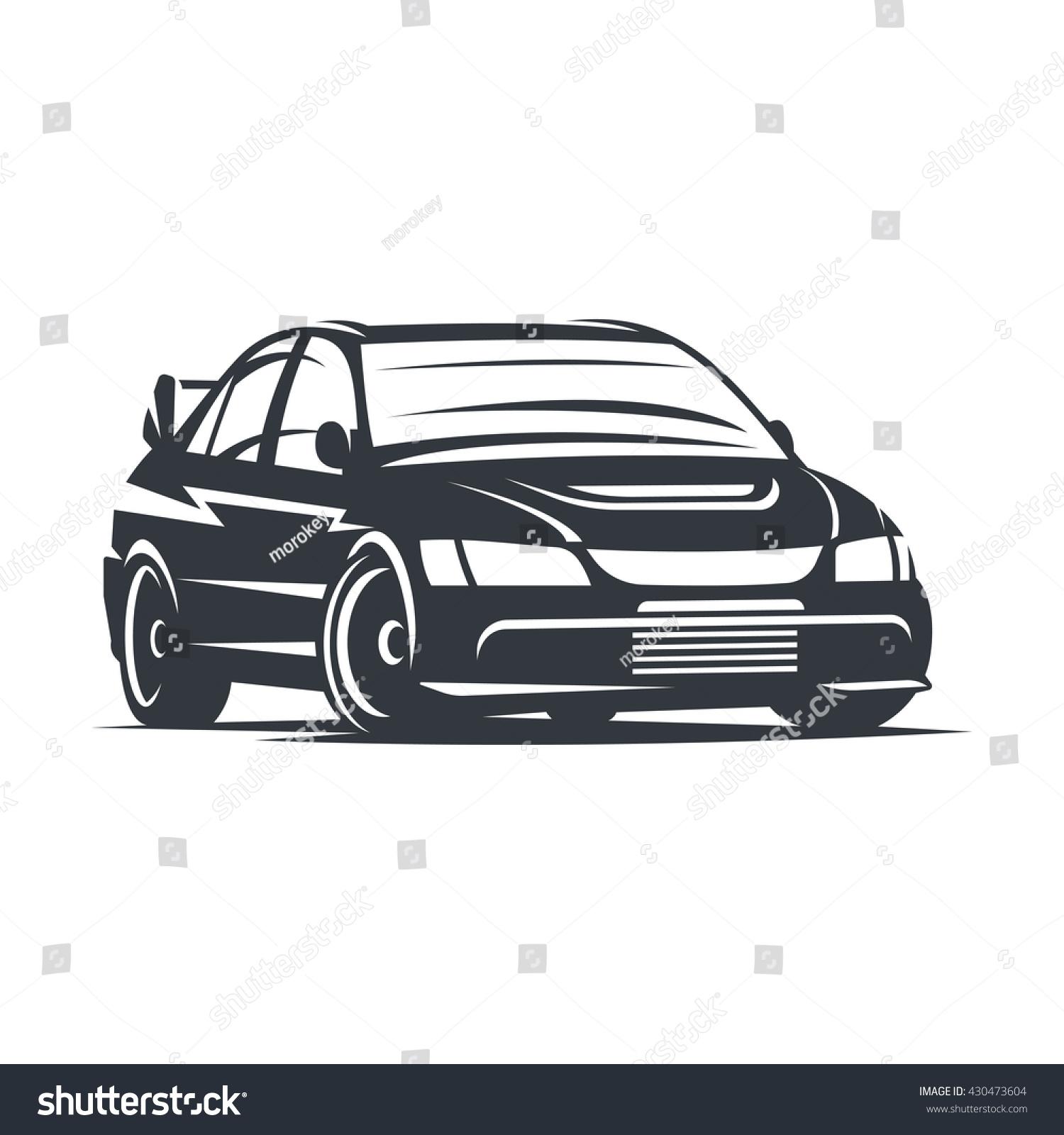 Sport Car Logo Emblem Badge Illustration Stock Vector Royalty Free 430473604