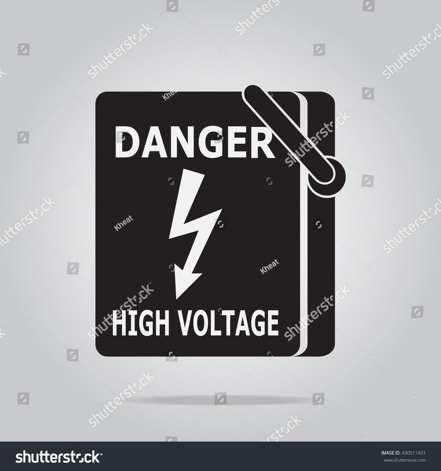 Electrical Switch Power Voltage Symbol Danger Stock Photo (Photo ...