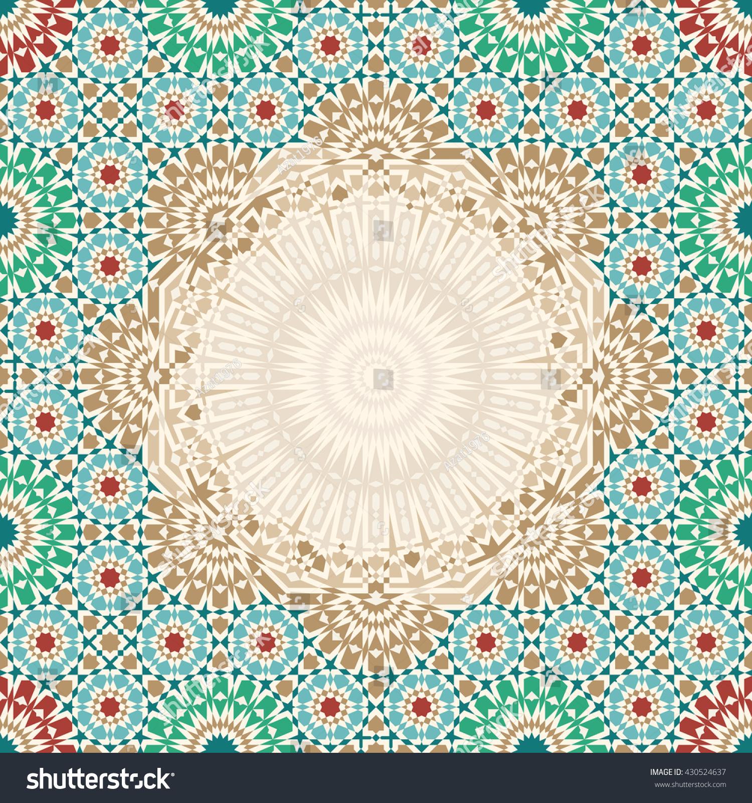 Rectangle Morocco Mosaic Abstract Template Traditional Vector de ...