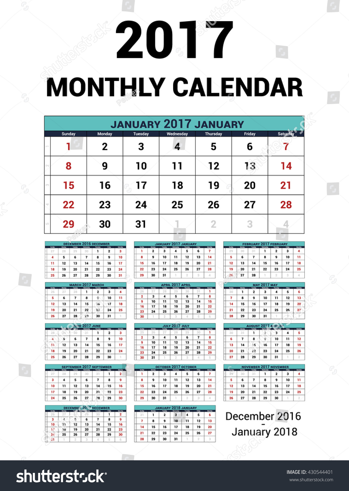 Quarterly Calendar Design : Calendar monthly year vector stationery stock