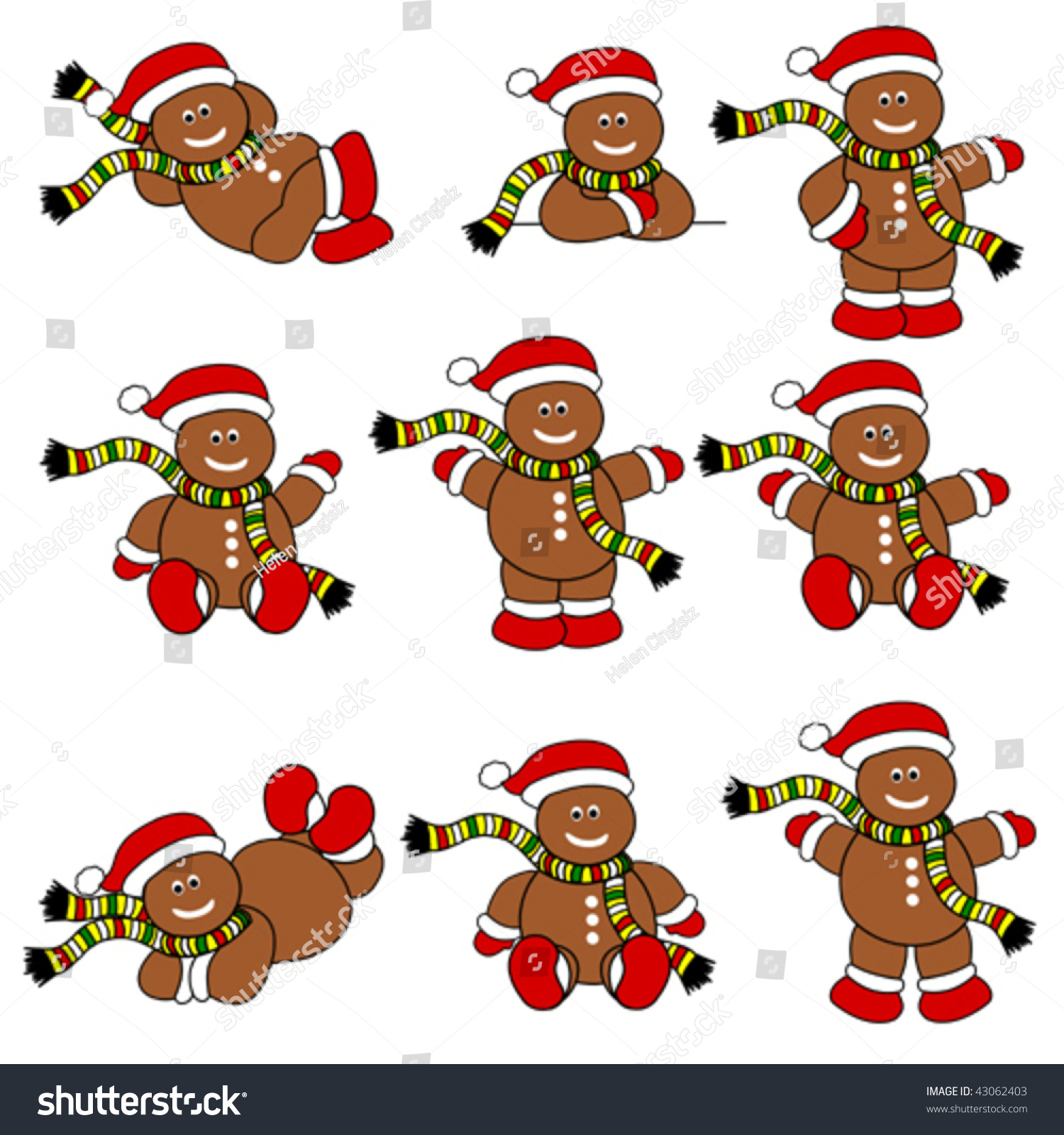 cute christmas gingerbread man set - Christmas Gingerbread Man