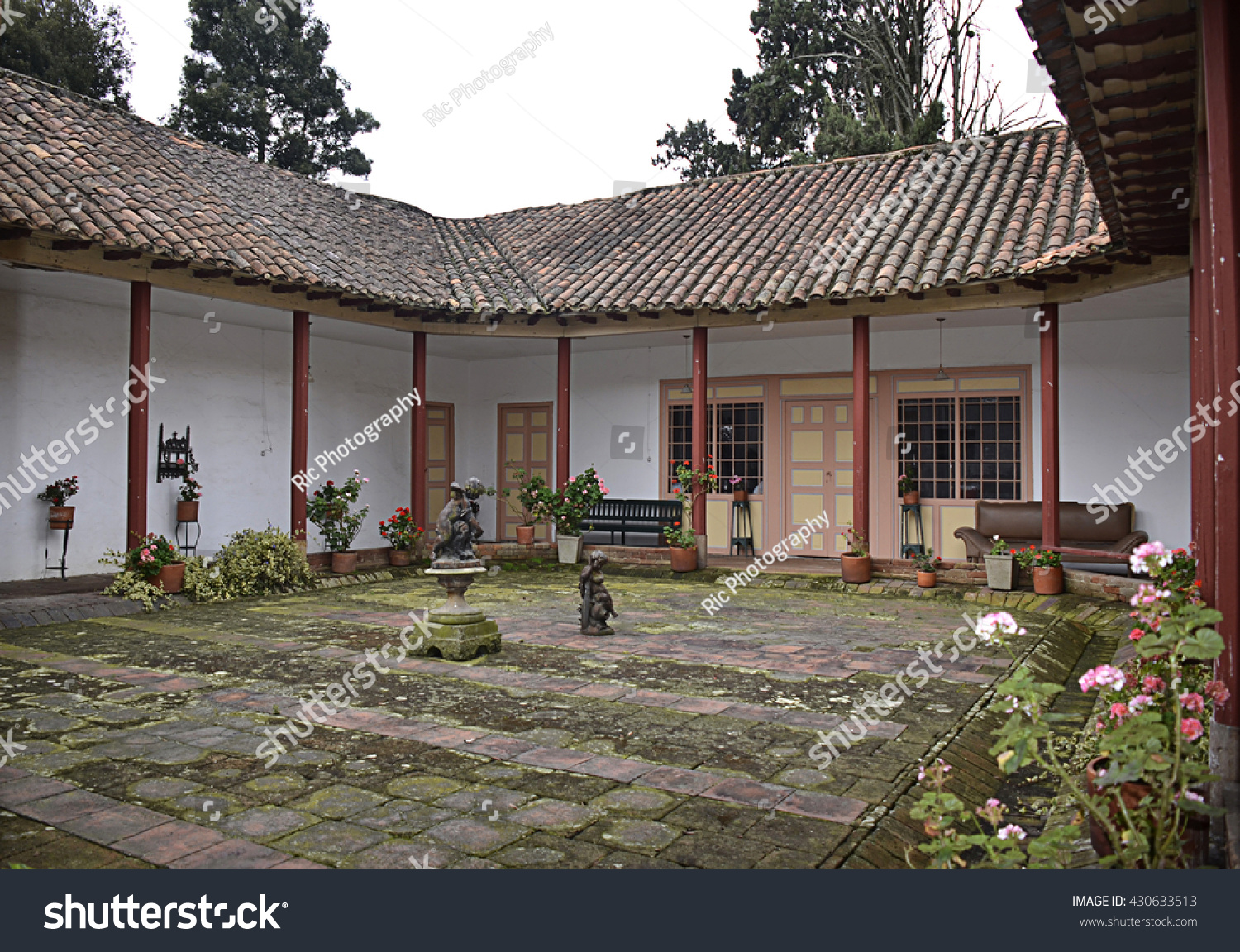 Old houses with great eighteenth century architecture among different cities among colombia countrie in south