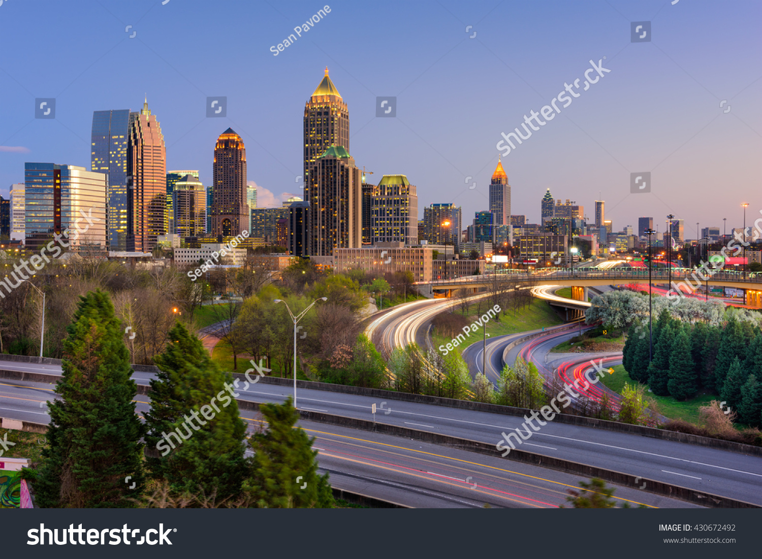 atlanta georgia usa downtown skyline stock photo 430672492 shutterstock. Black Bedroom Furniture Sets. Home Design Ideas