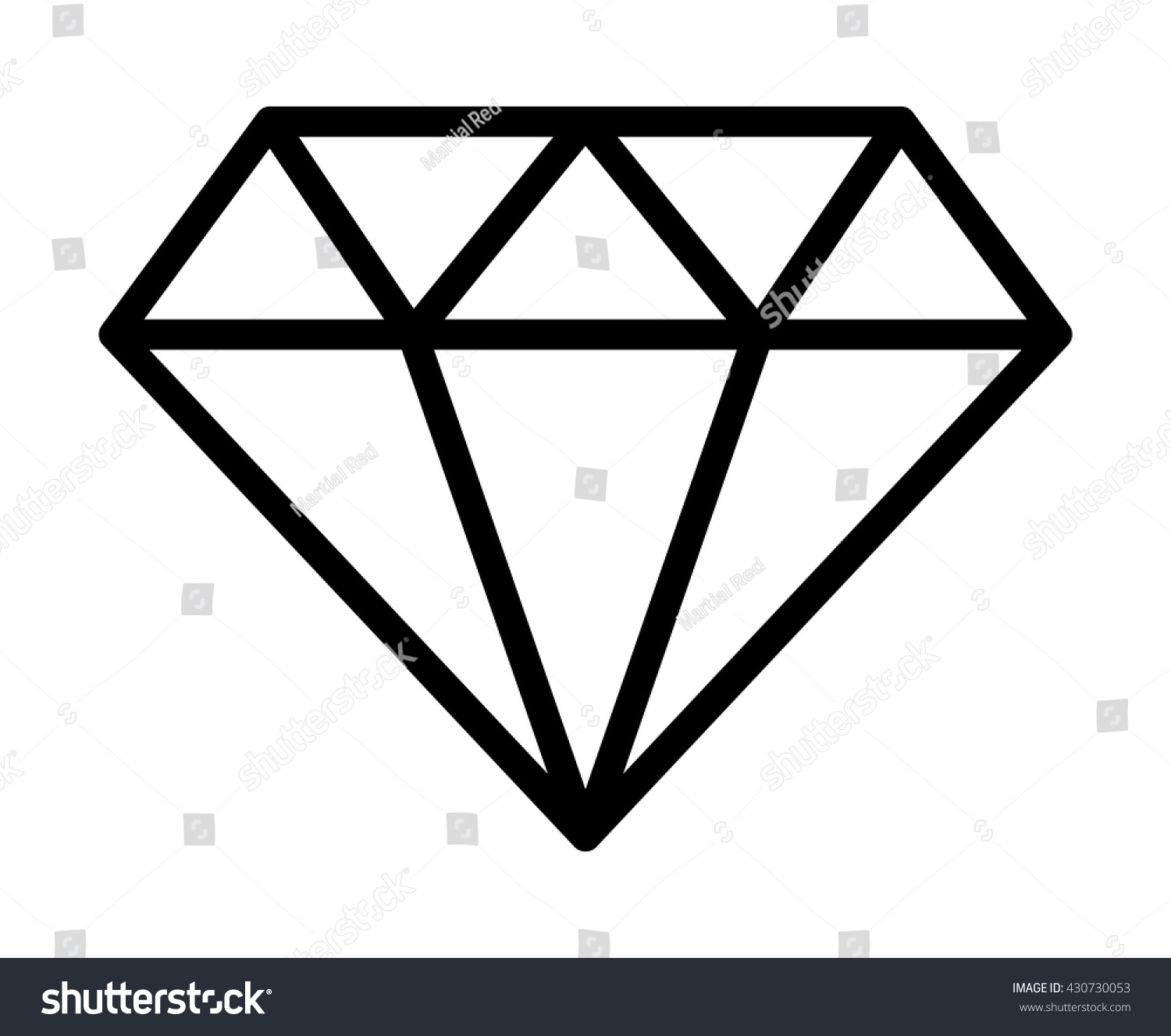 Line Drawing Jewel : Diamond jewel gemstone line art icon for apps and websites