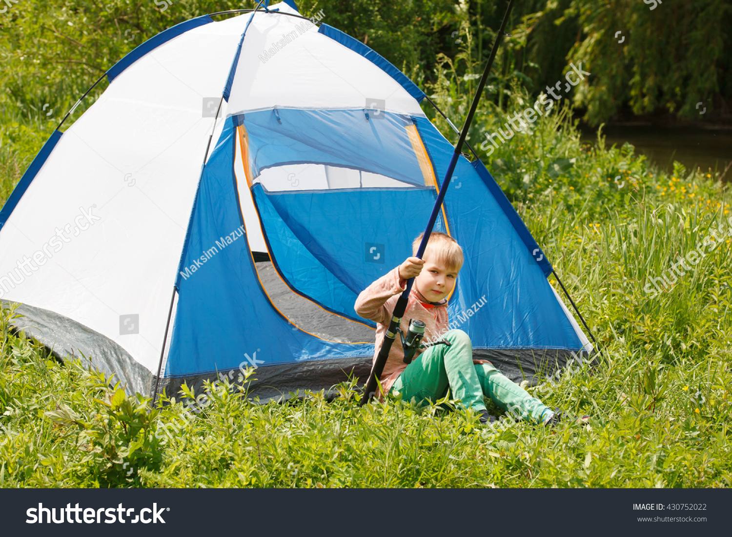 C& in the tent -boy on the c&ing  sc 1 st  Shutterstock & Camp Tent Boy On Camping Stock Photo 430752022 - Shutterstock