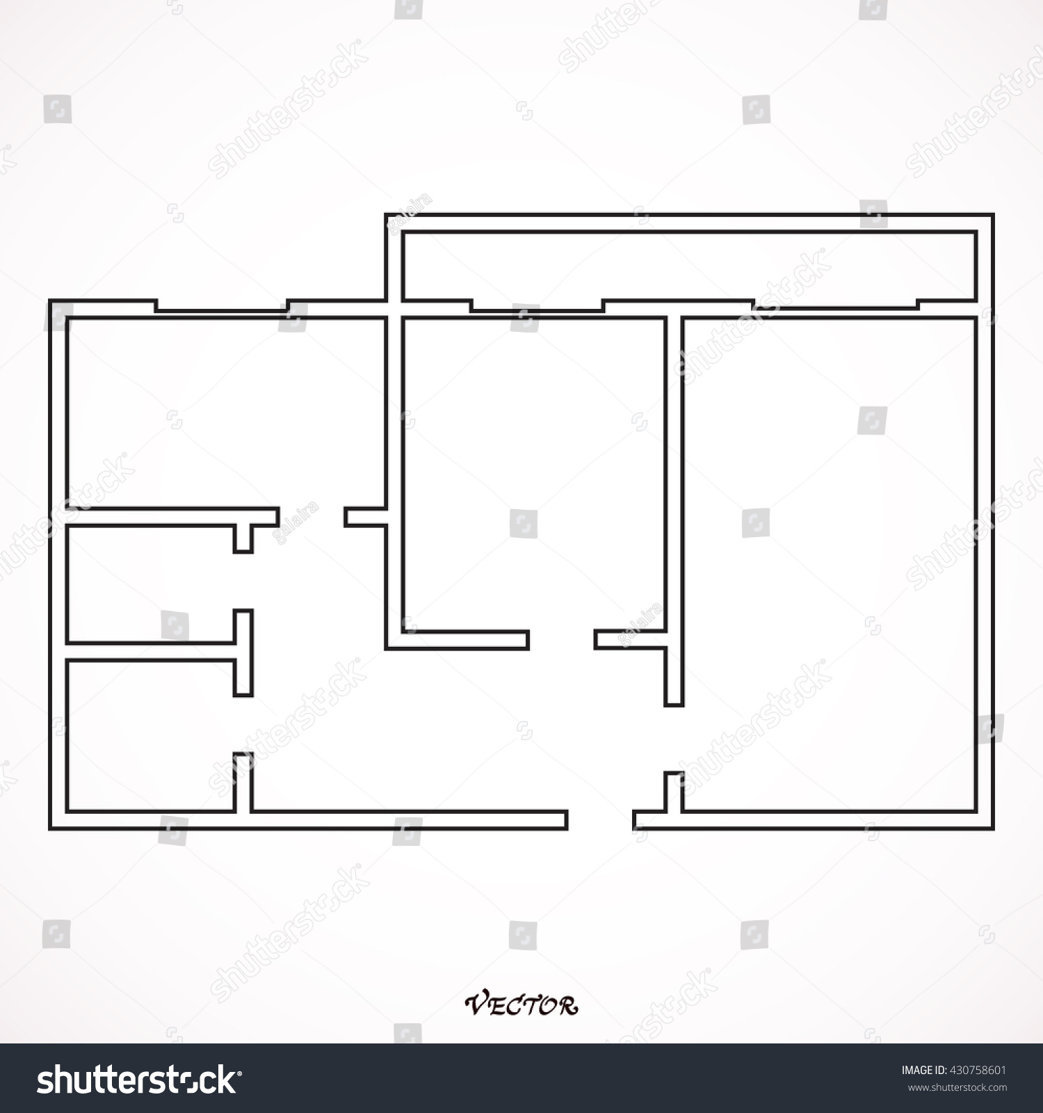 Black white house apartment plan house stock vector 430758601 black and white house apartment plan house home building architecture blueprint icon vector illustration malvernweather Gallery