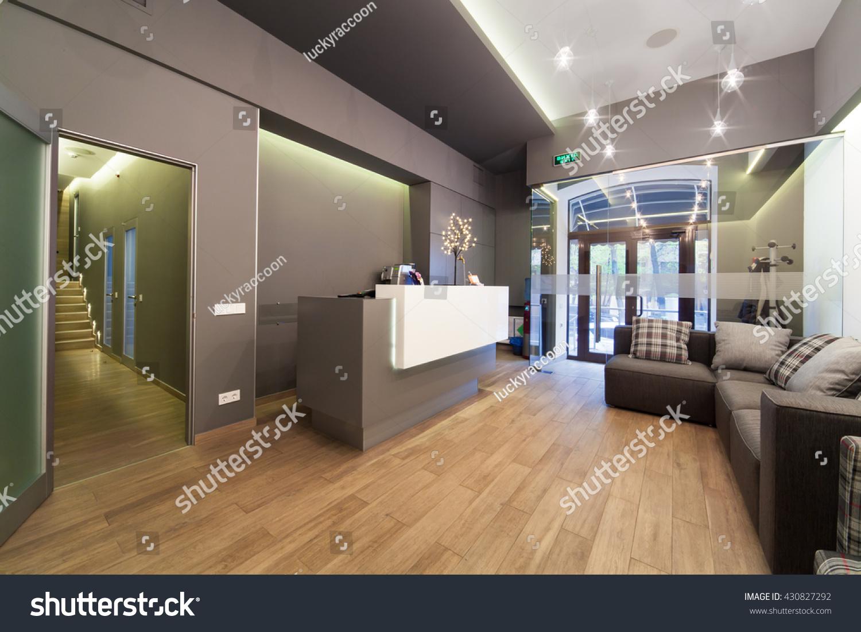 Modern Interior Design Lobby Dental Clinic Stock Photo