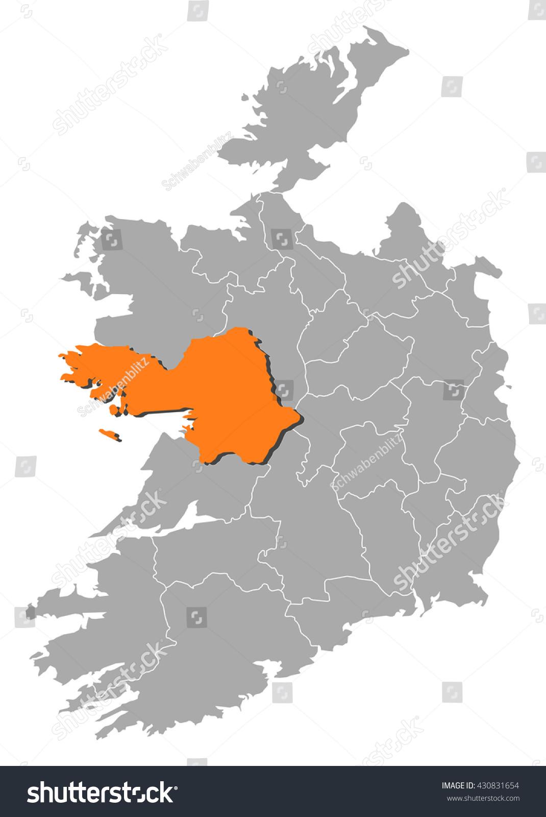 Map Of Ireland Galway.Map Ireland Galway Stock Vector Royalty Free 430831654 Shutterstock