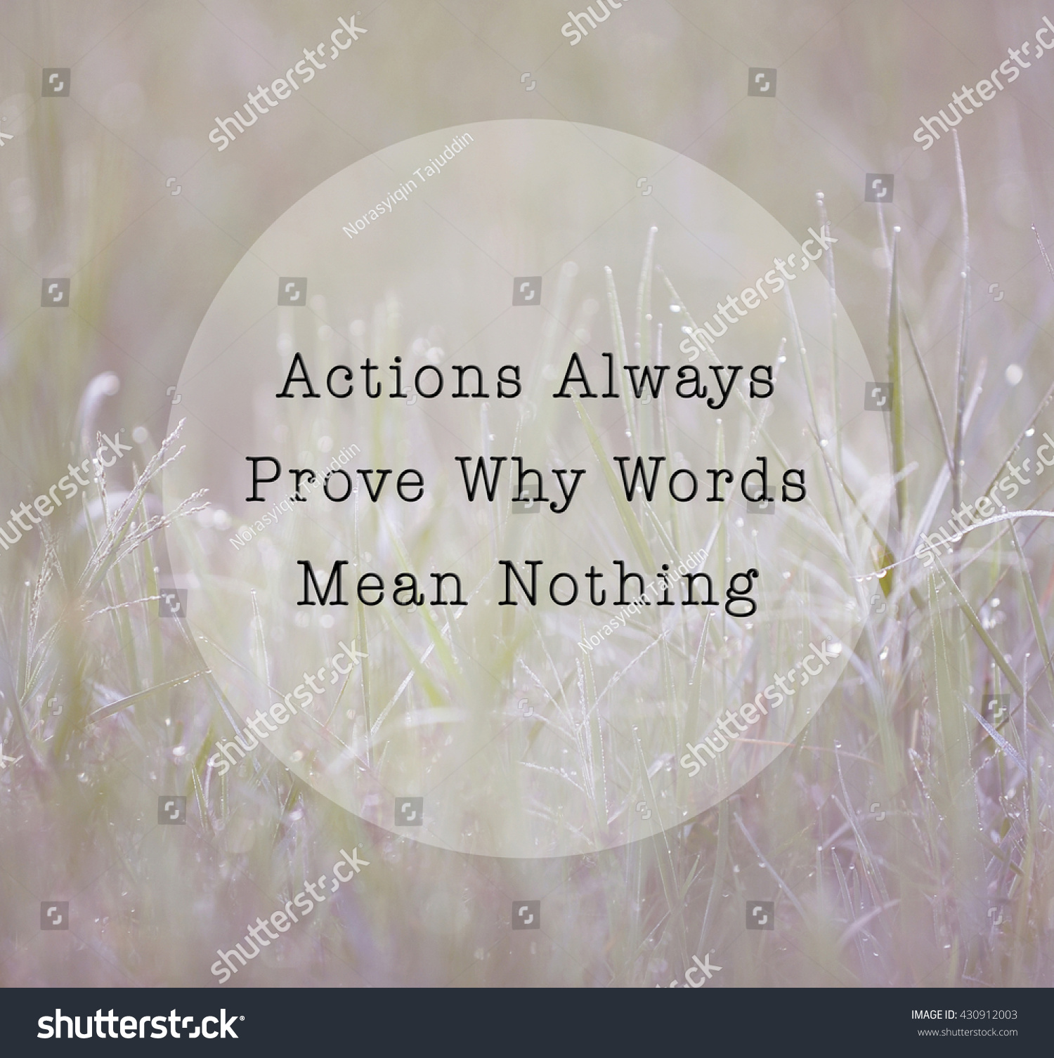 Inspirational Life Quote Phrase Actions Always Stock Photo Edit Now