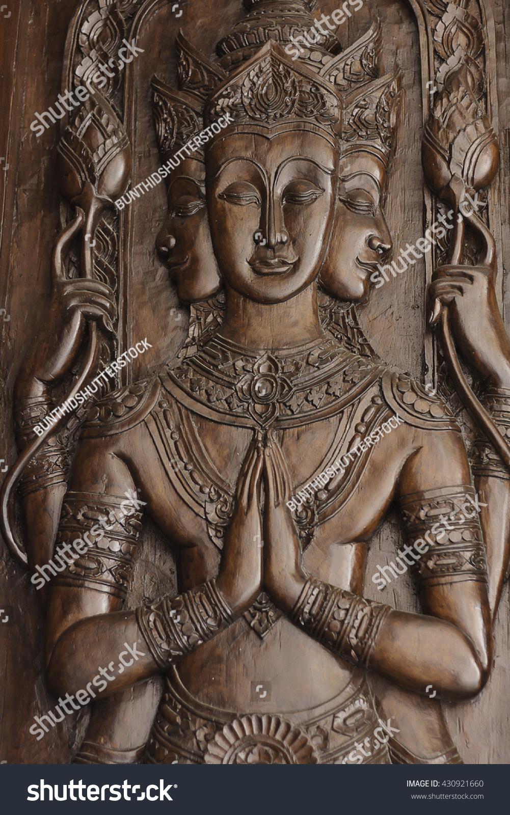 Wood thai pattern handmade wood carvings bangkok thailand ez
