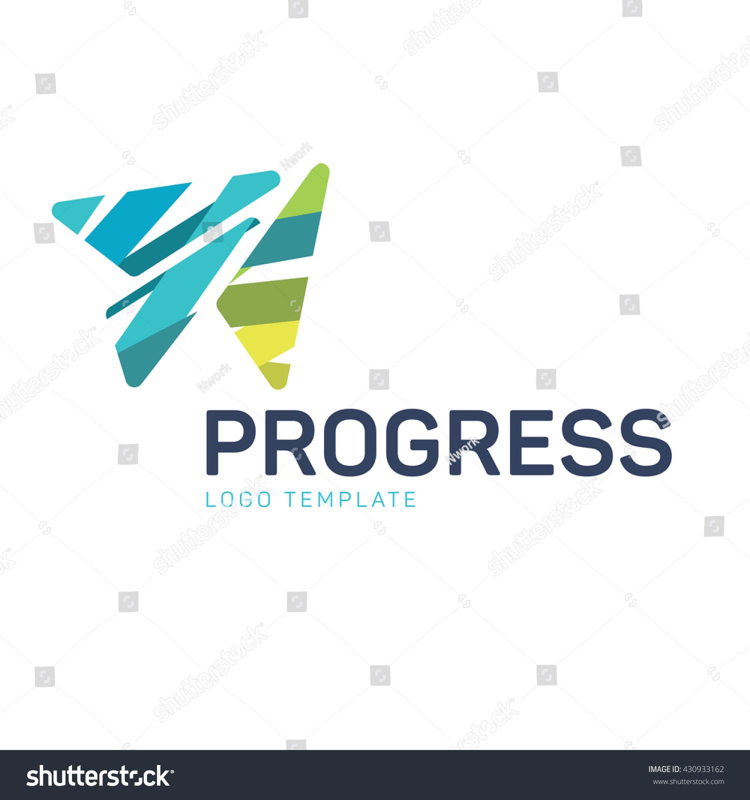 Progress Logo Template Stock Vector (Royalty Free) 430933162