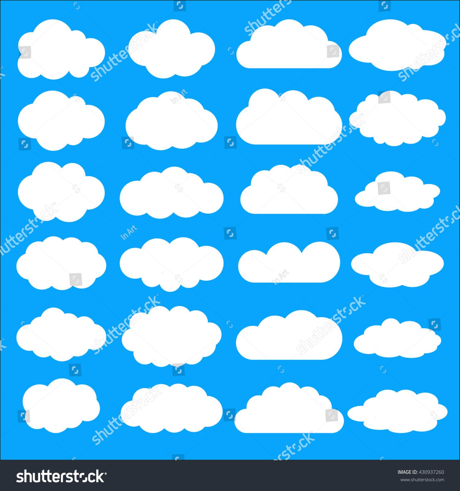 photograph regarding Printable Clouds Cut Out named Clouds Cutouts Printables status