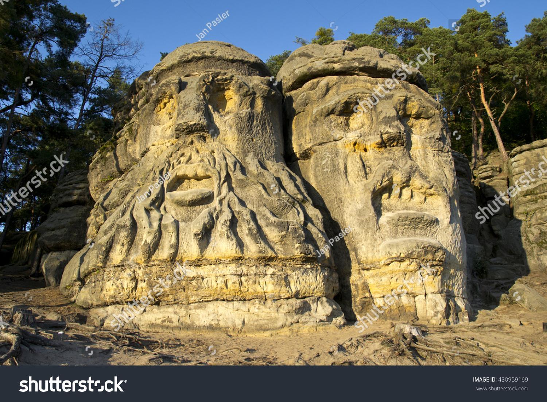 Royalty Free Devil Heads In Village Zelizy Czech 430959169