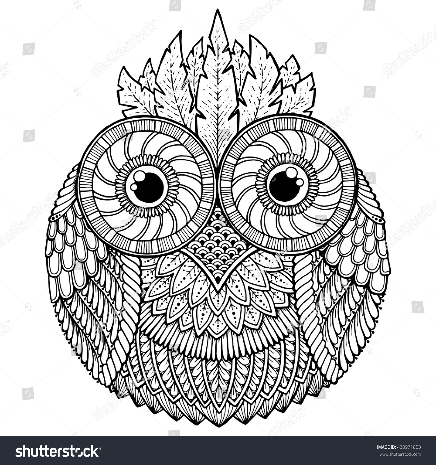 aztec owl coloring pages - photo#11