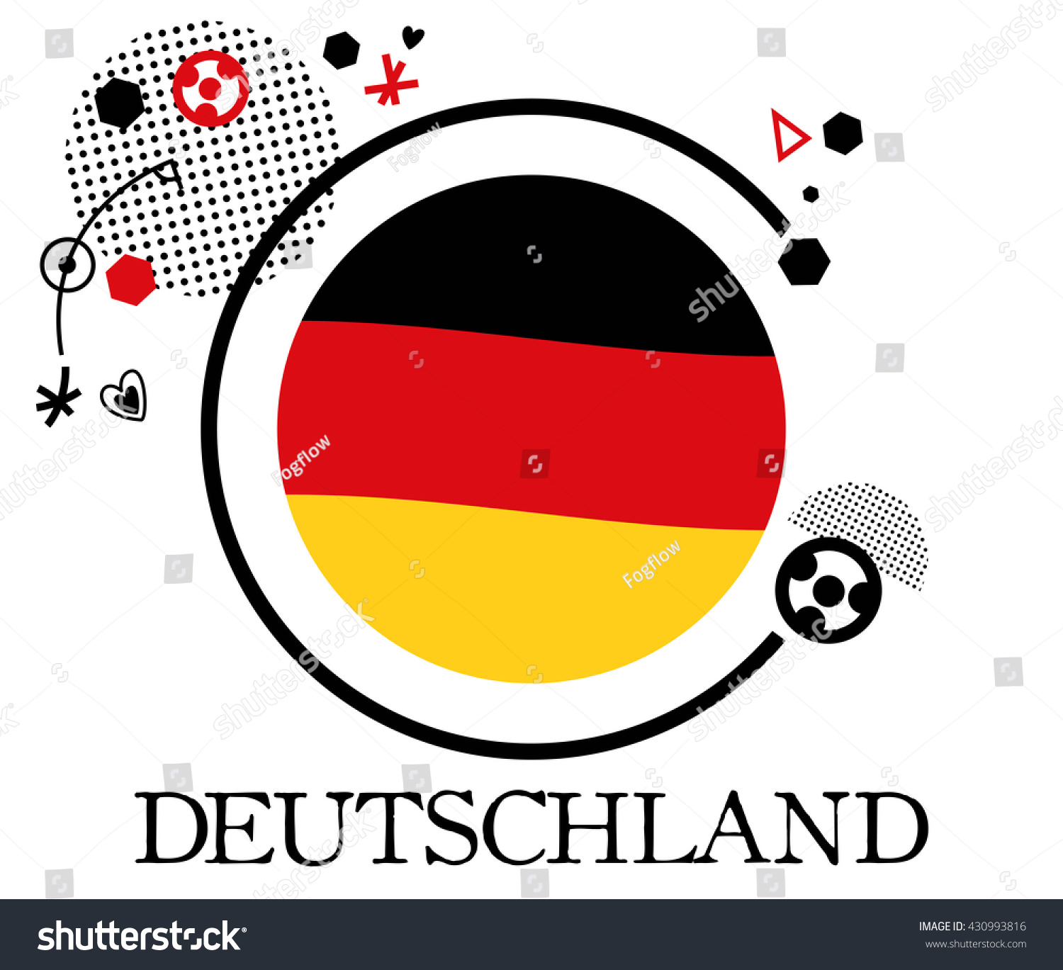 Germany Soccer Symbol 2016 Flat Vector Stock Vector Royalty Free