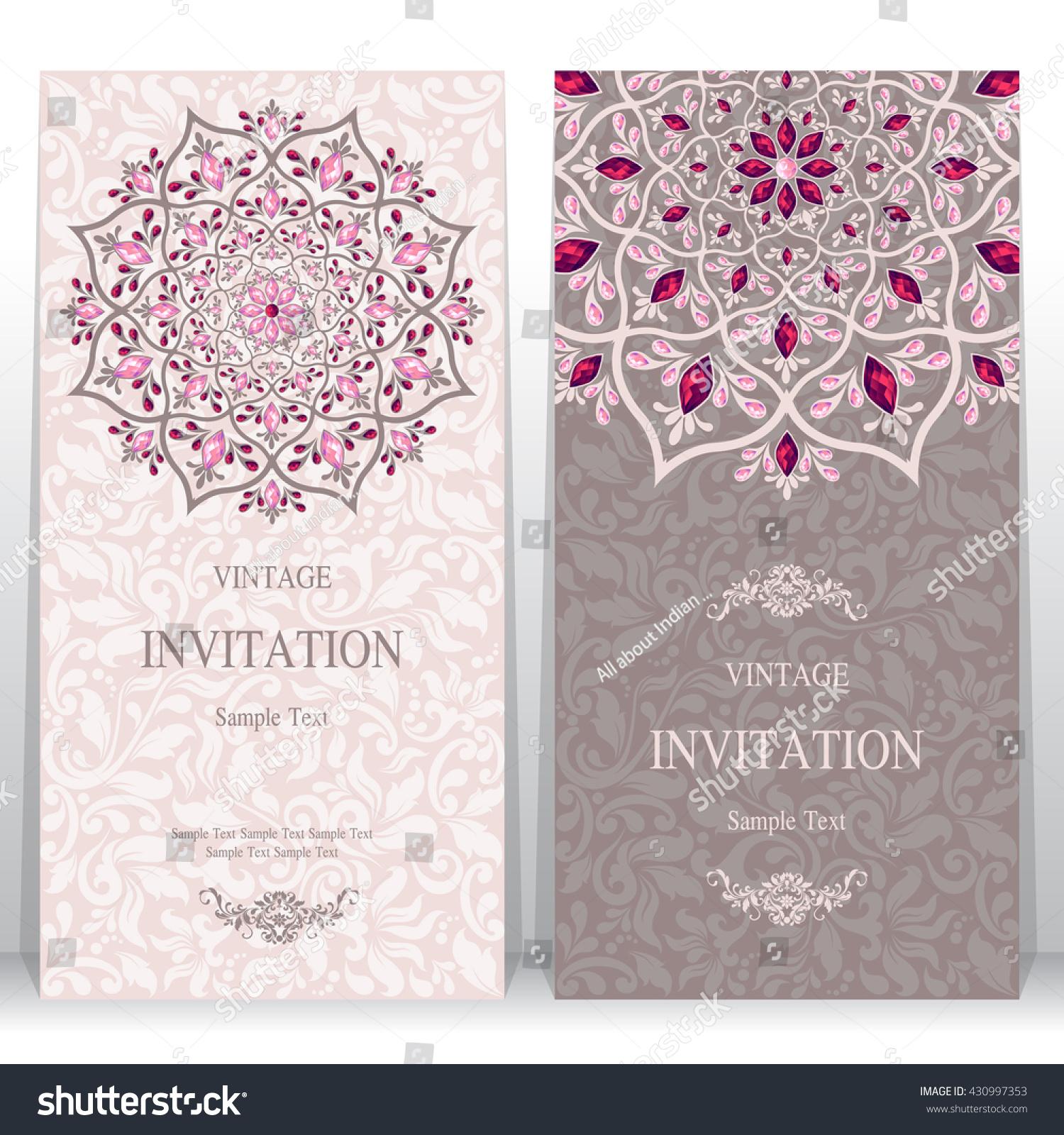 Wedding Card Invitation Card Card Abstract Stock Vector 430997353 ...