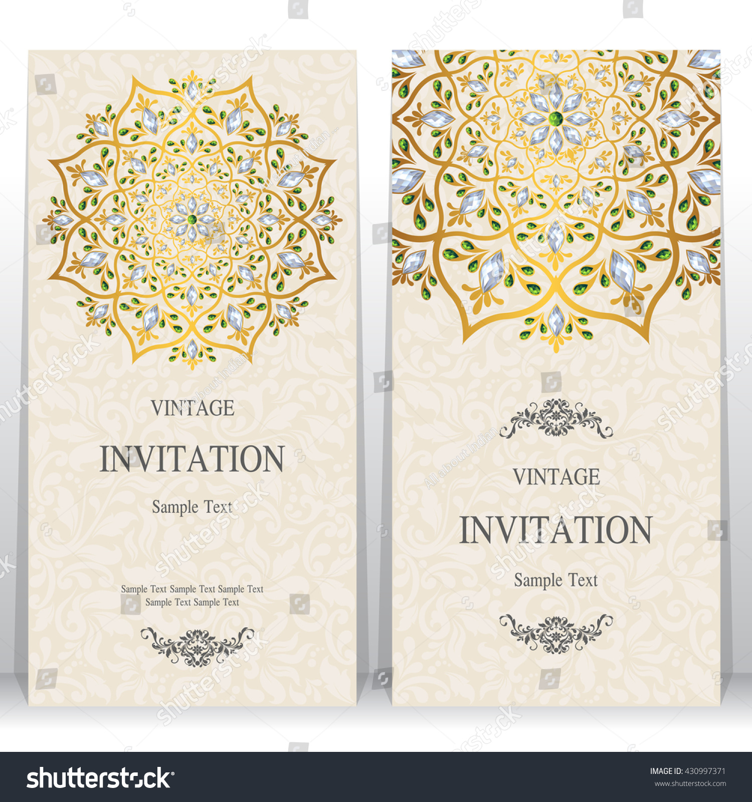 Wedding Card Invitation Card Card Abstract Stock Vector HD (Royalty ...