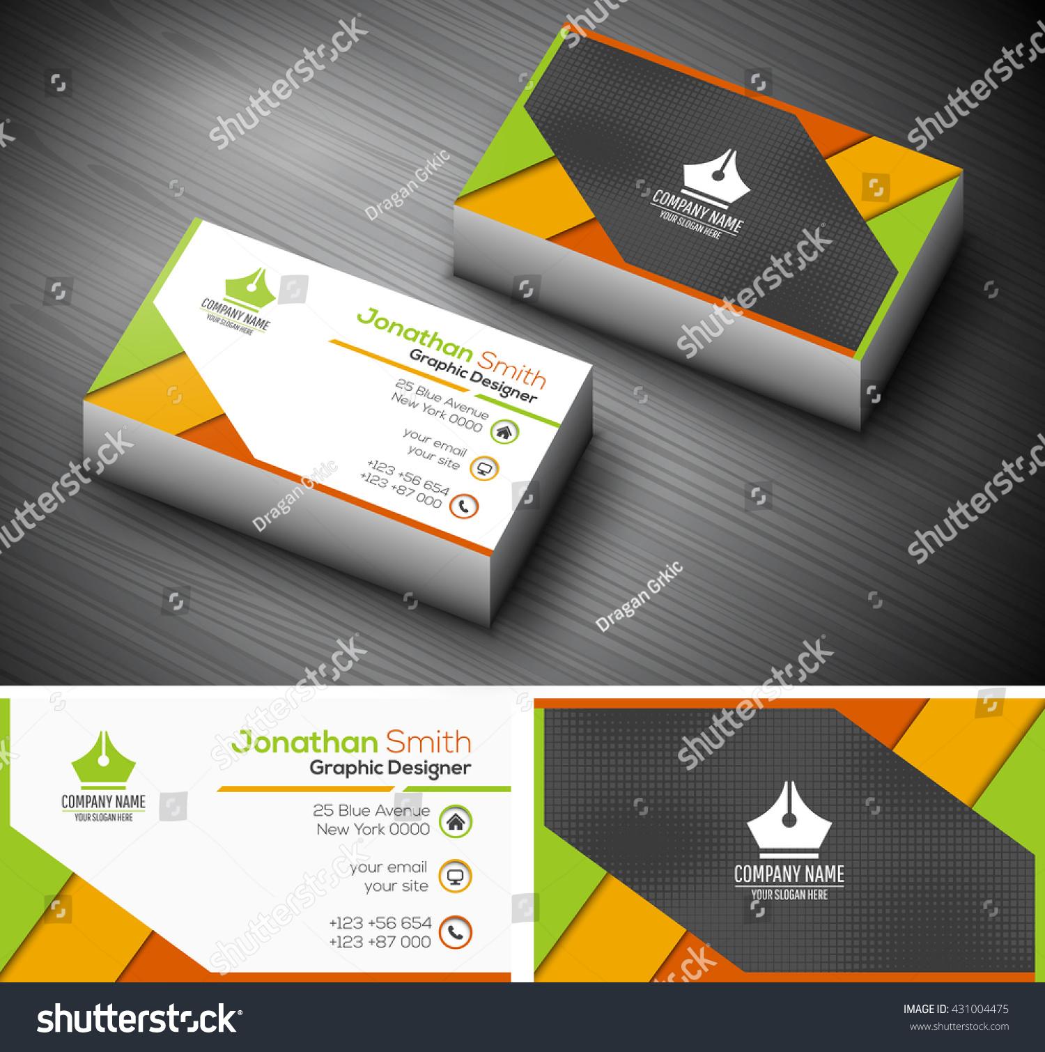 Vector Illustration Creative Business Card Stock Vector 431004475 ...