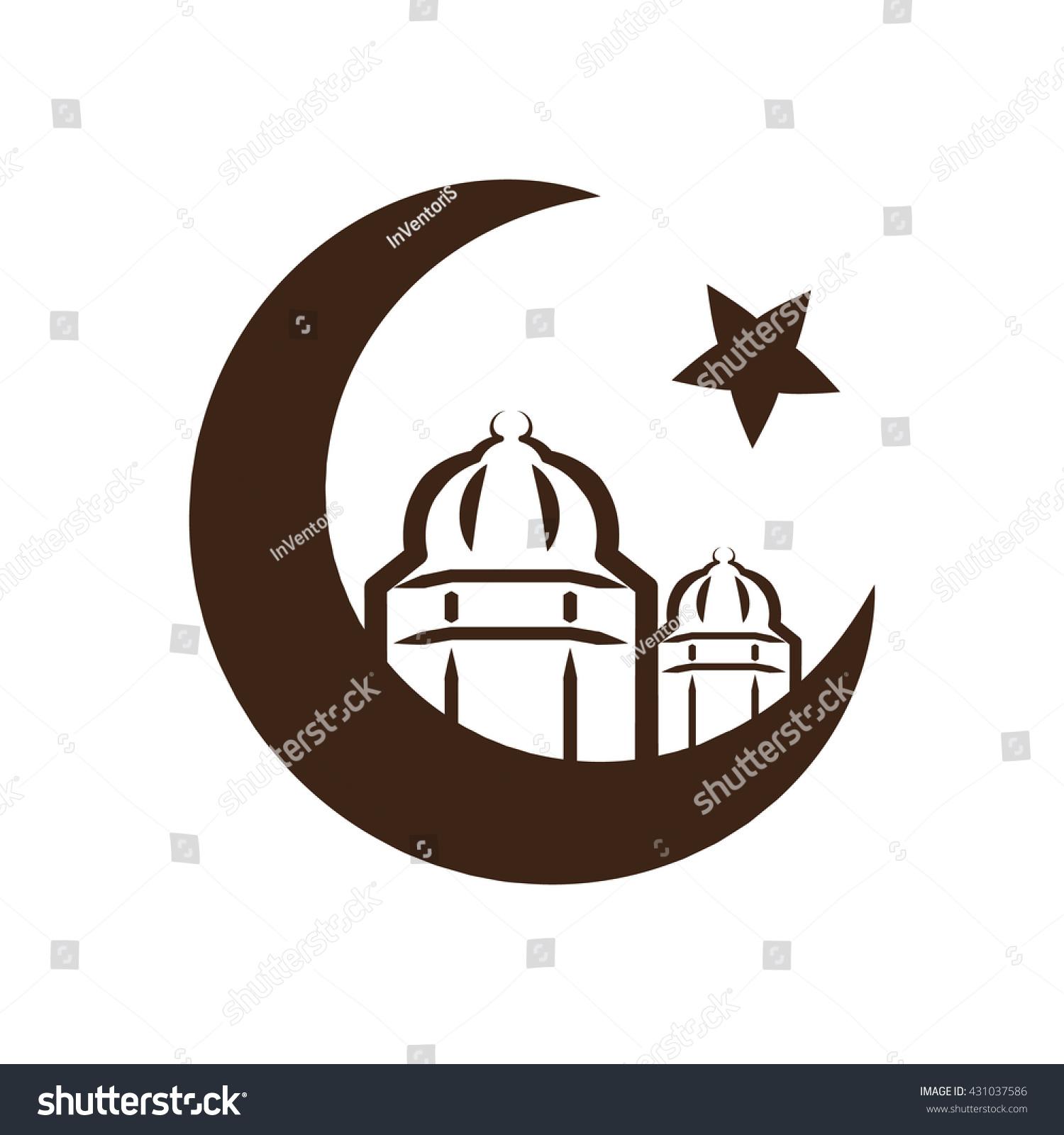 Star Crescent Symbol Islam Icon Islamic Stock Vector Royalty Free