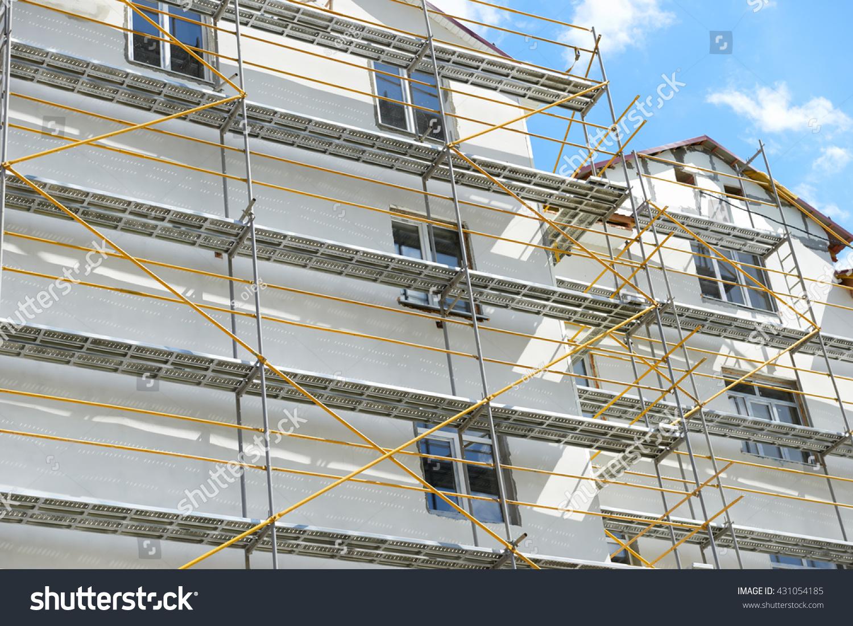 Scaffolding Near House Under Construction External Stock Photo 431054185 Shutterstock
