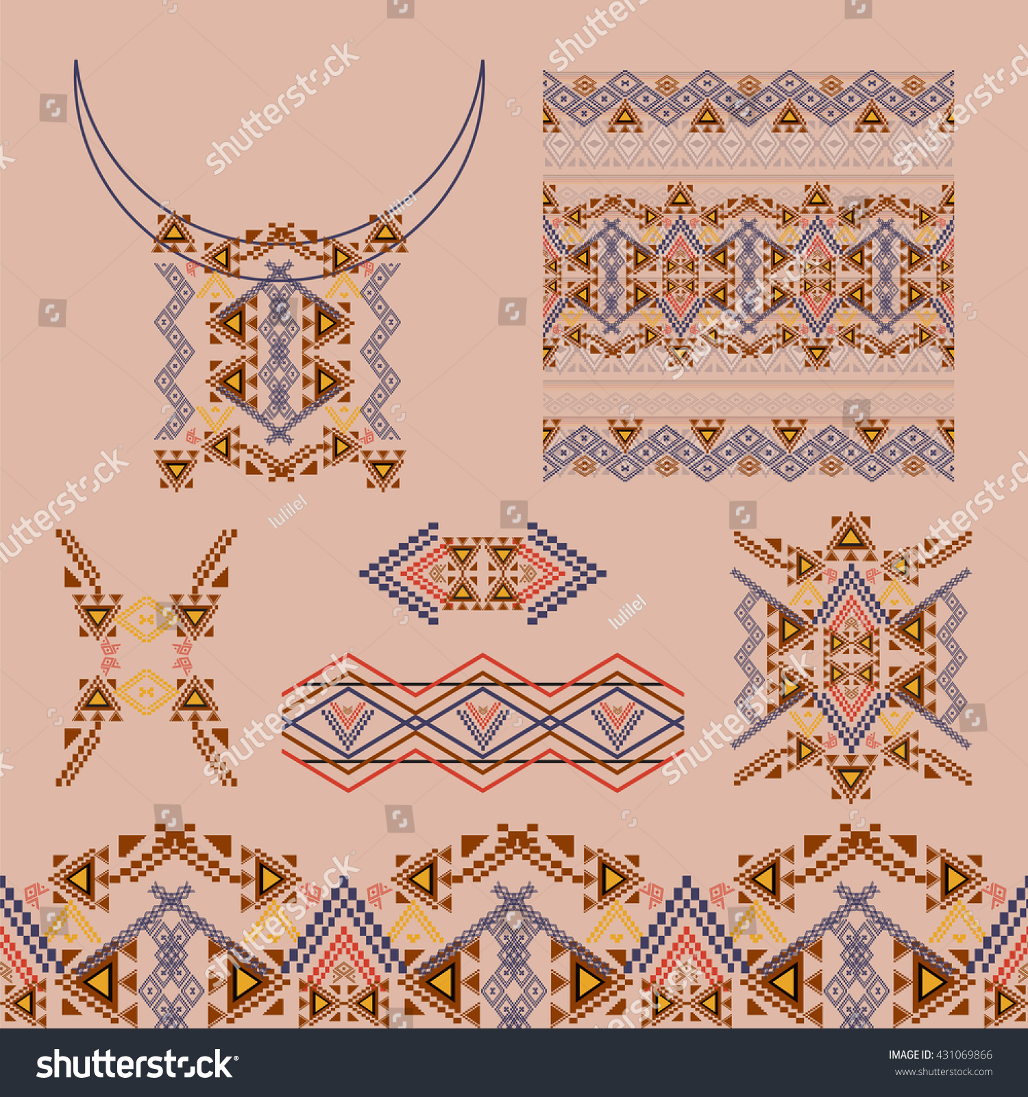 Vector Set Decorative Elements Design Fashion Stock Vector Royalty Free 431069866
