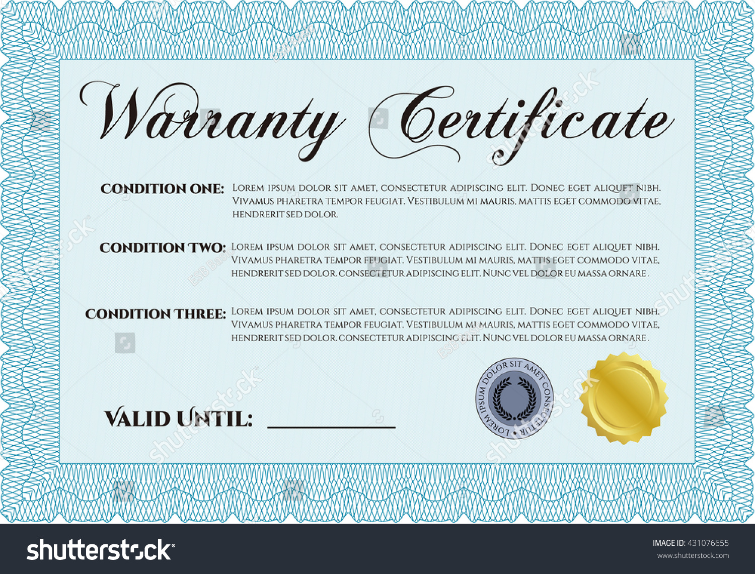 Sample warranty template warranty certificate receipt template word sample warranty certificate template vector illustration stock stock vector sample warranty certificate template vector illustration with yadclub Gallery