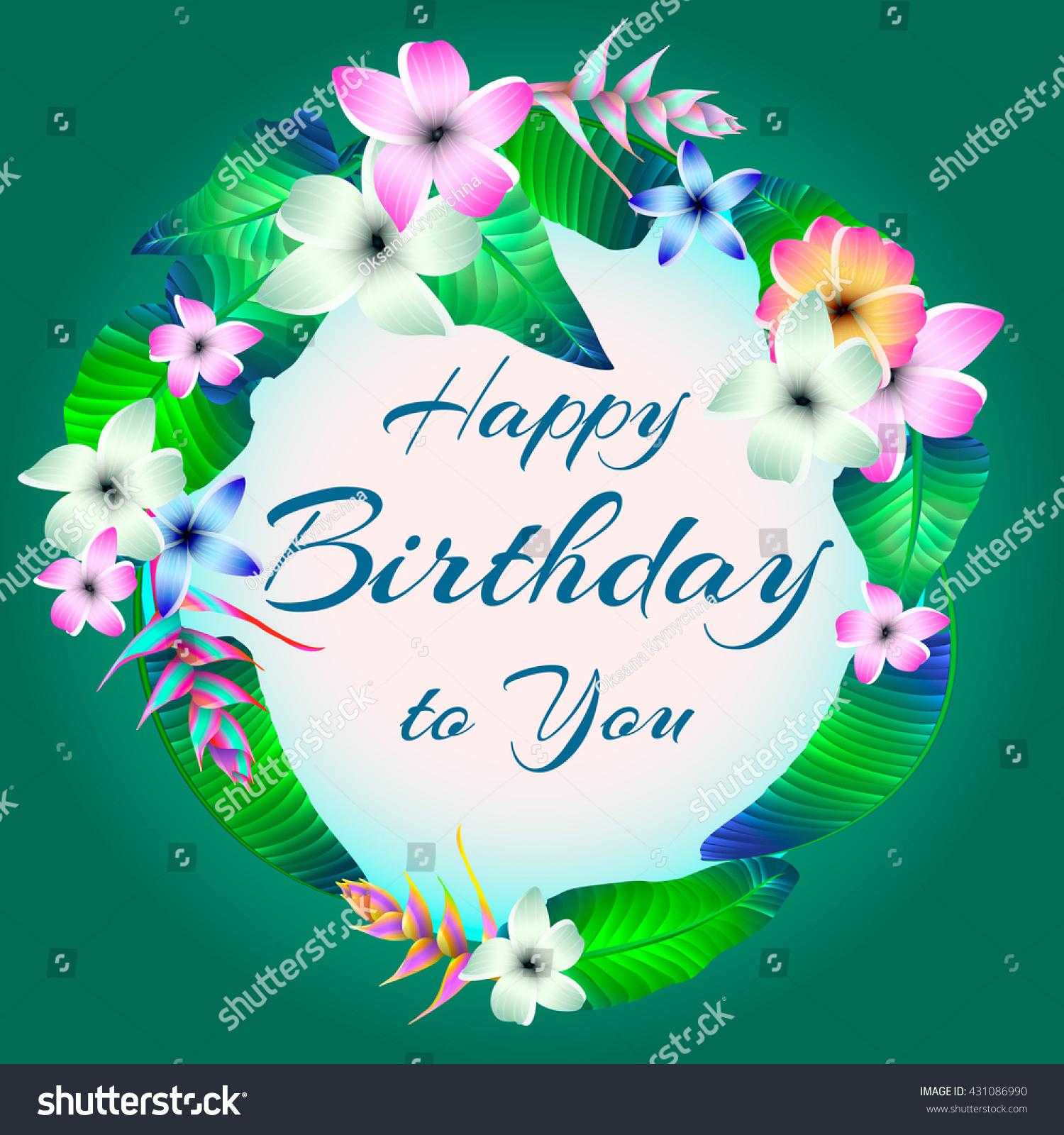 Happy birthday card flowers stock vector royalty free 431086990 happy birthday card flowers izmirmasajfo
