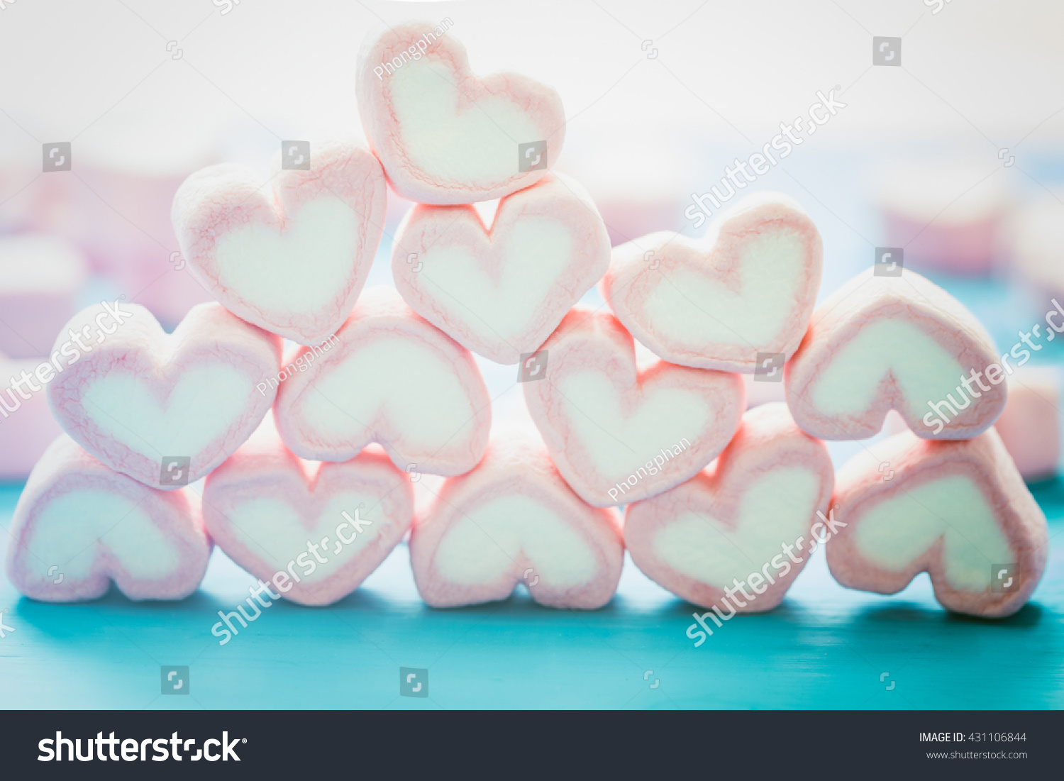 Pink heart marshmallow sweet love theme stock photo for Love theme images